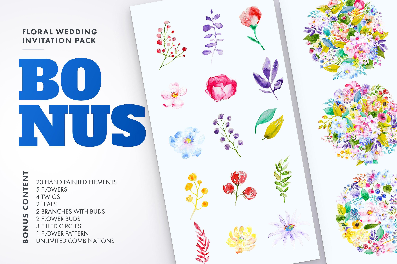 Floral Wedding Invitation Bundle example image 5