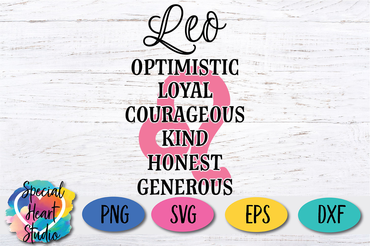 Leo Zodiac SVG - A fun astrology SVG cut file example image 2