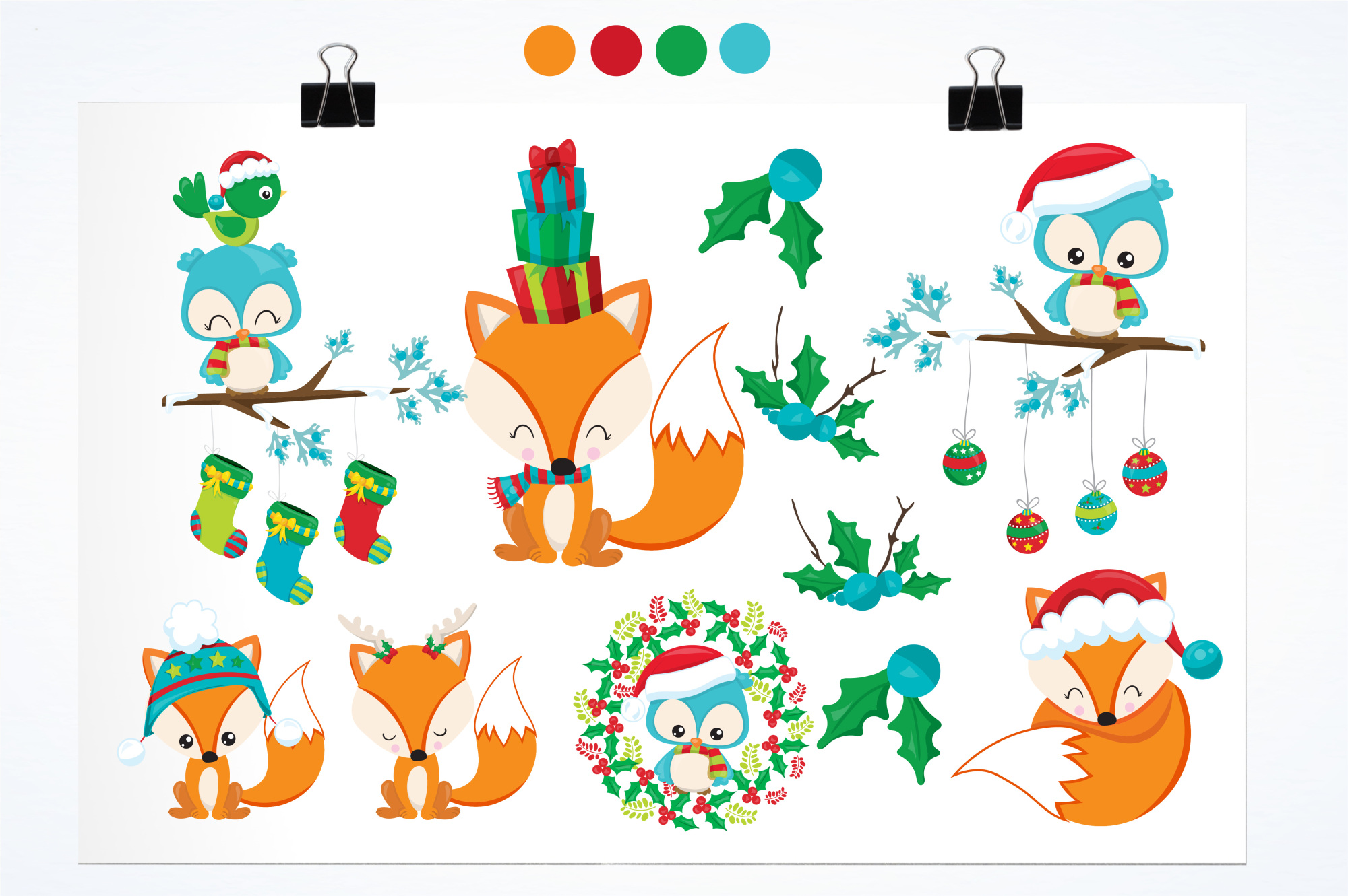 Woodland Christmas  graphics and illustrations example image 2