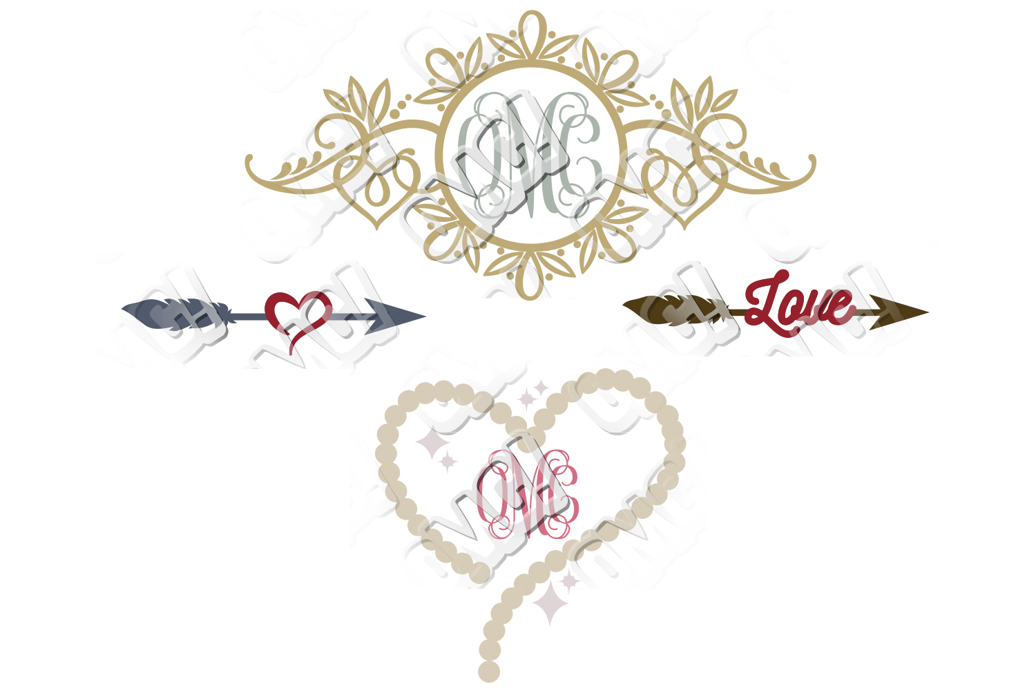 Wedding SVG Bundle example image 3