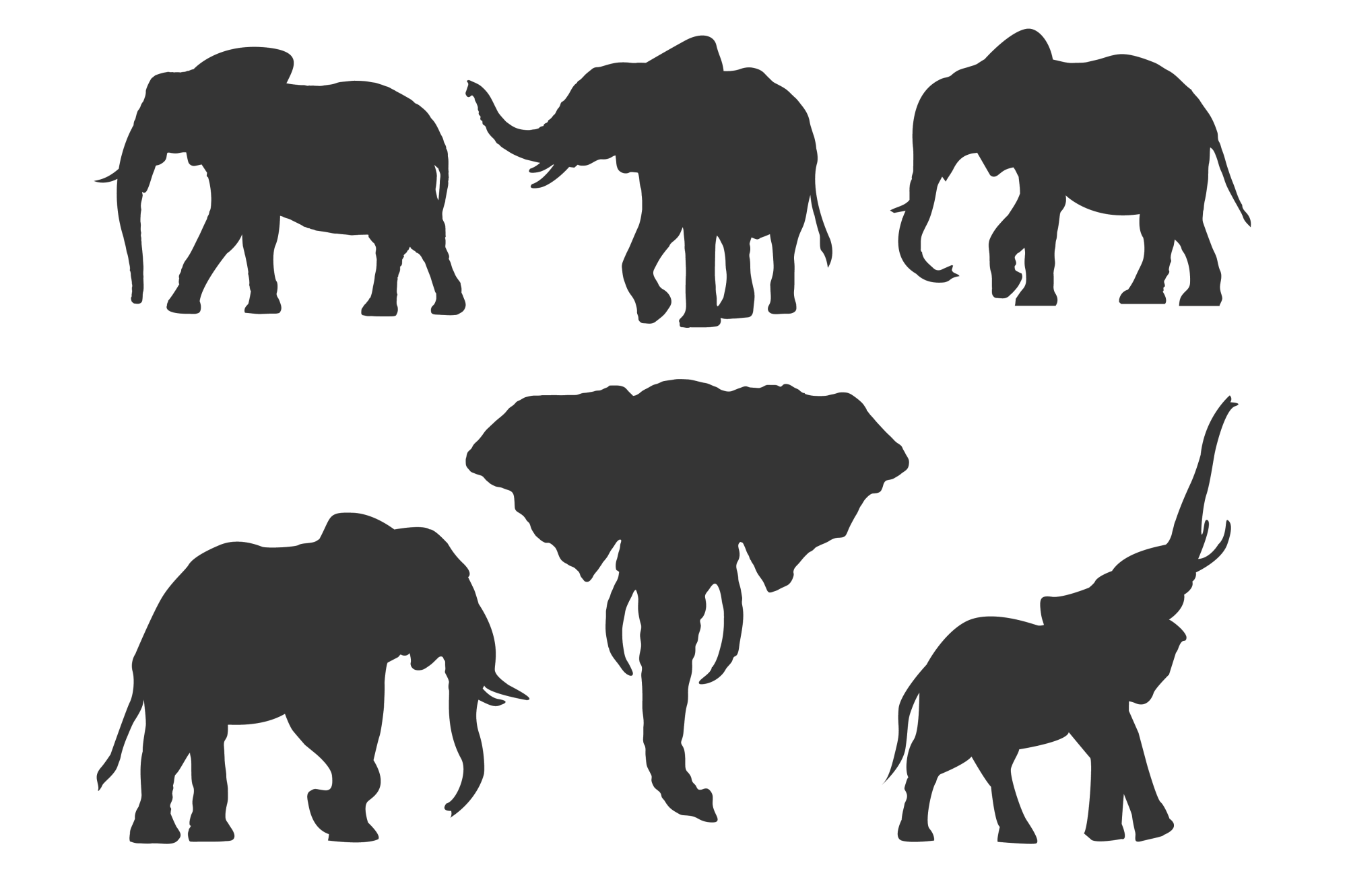 Elephant Silhouettes for Crafters example image 2