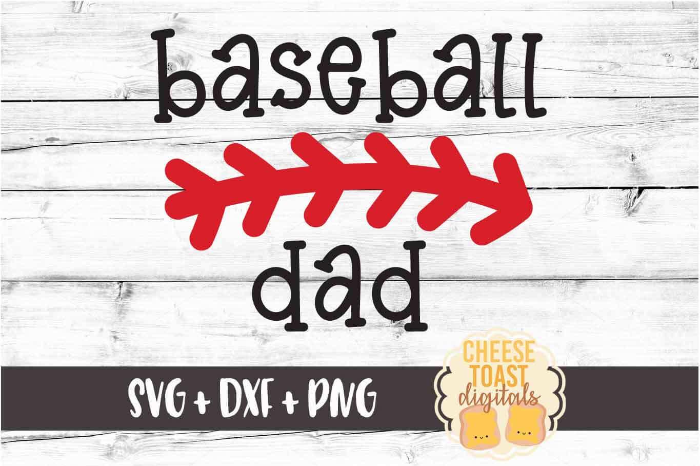 Baseball Dad - Baseball SVG PNG DXF Cut File example image 2