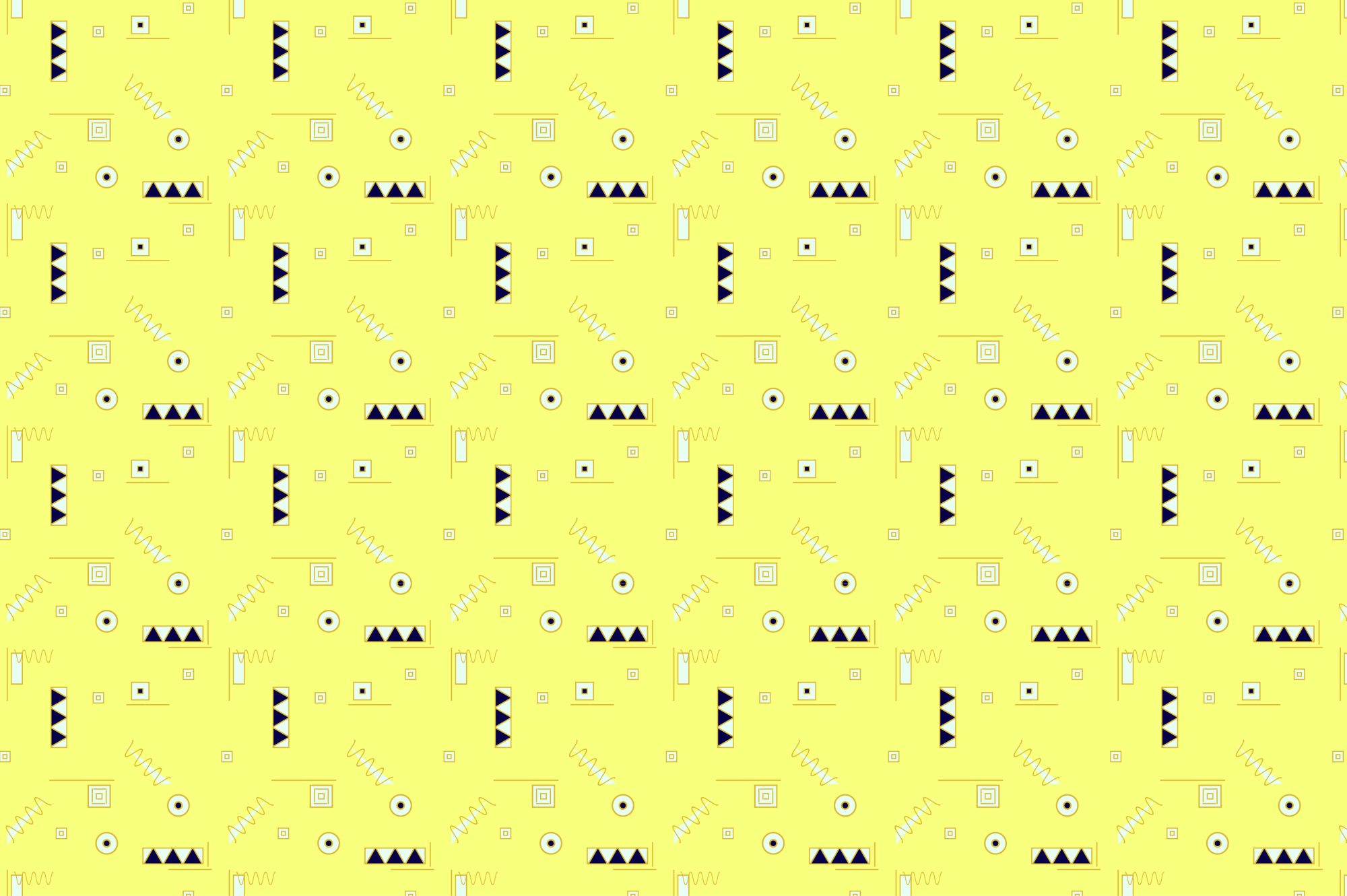 Colorful Memphis Patterns - seamless example image 7