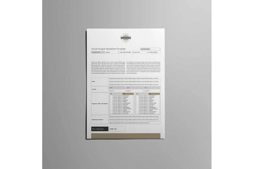 A4 Job Analysis Worksheet Template example image 5