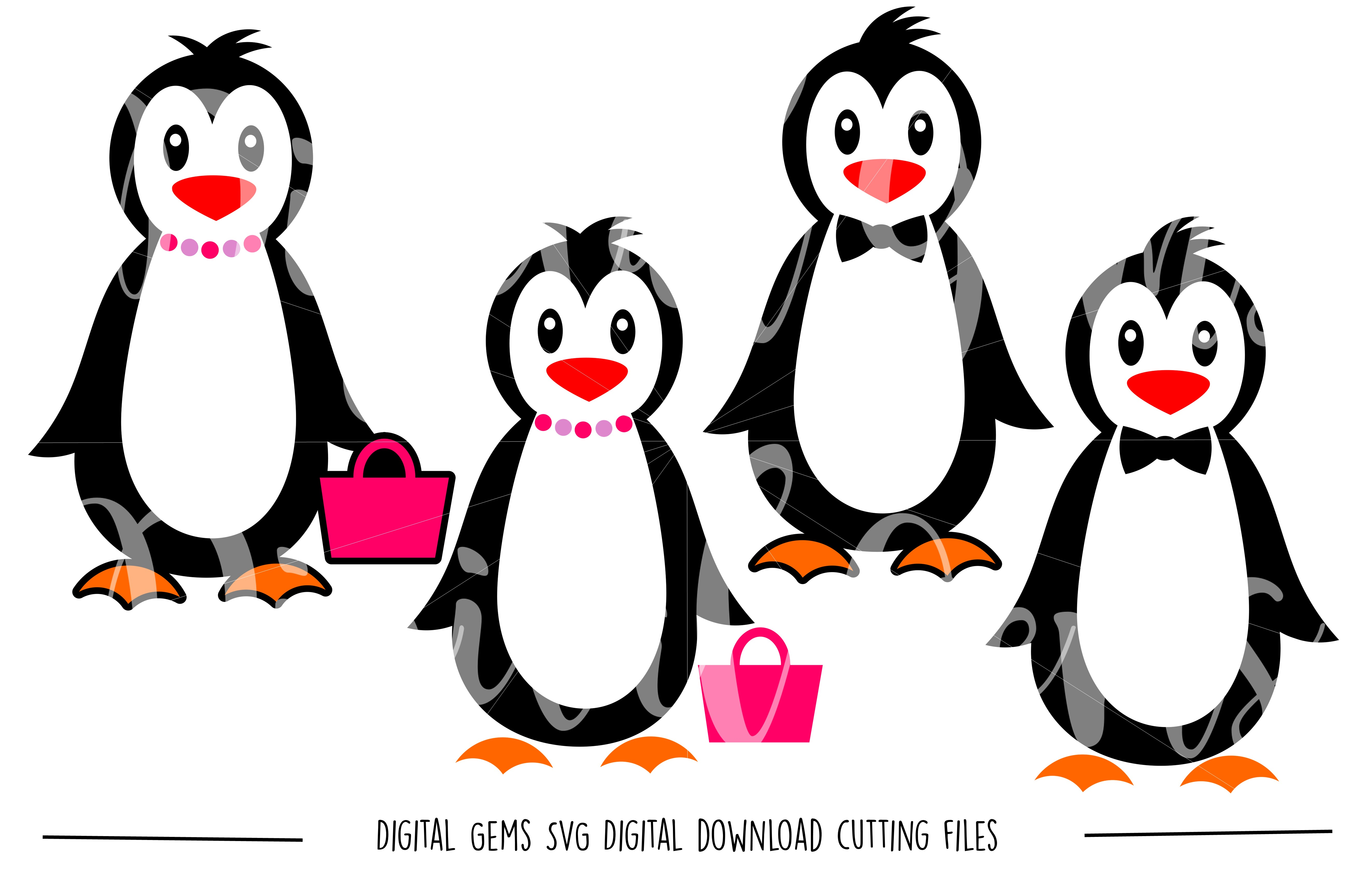 Penguin SVG / PNG Files example image 1