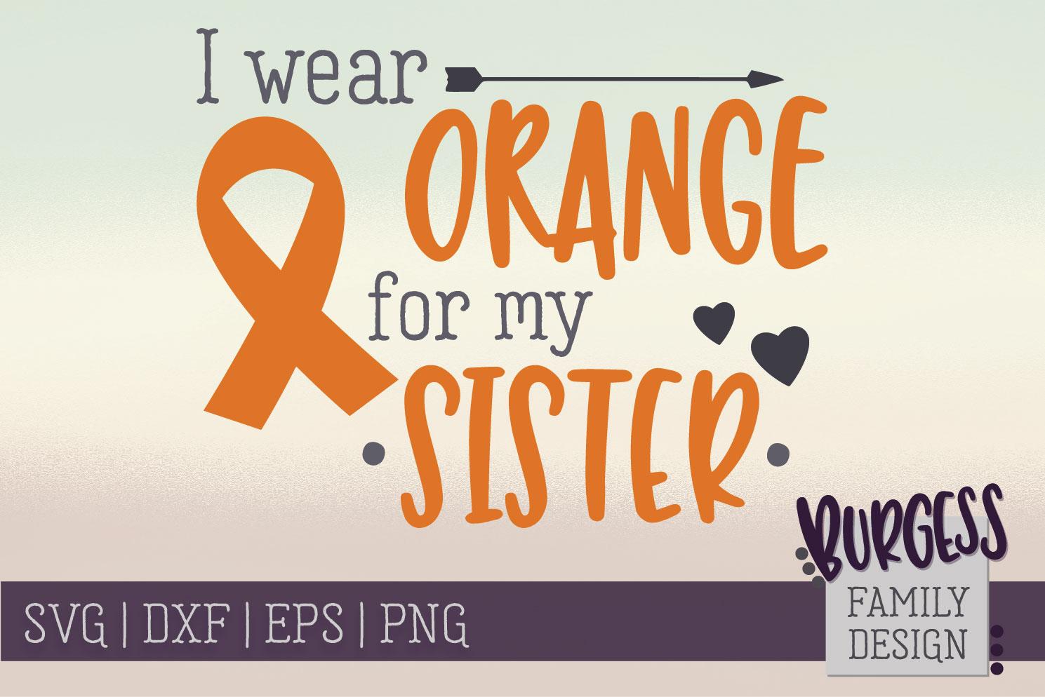 BUNDLE | I wear orange for my family | SVG DXF EPS PN example image 9