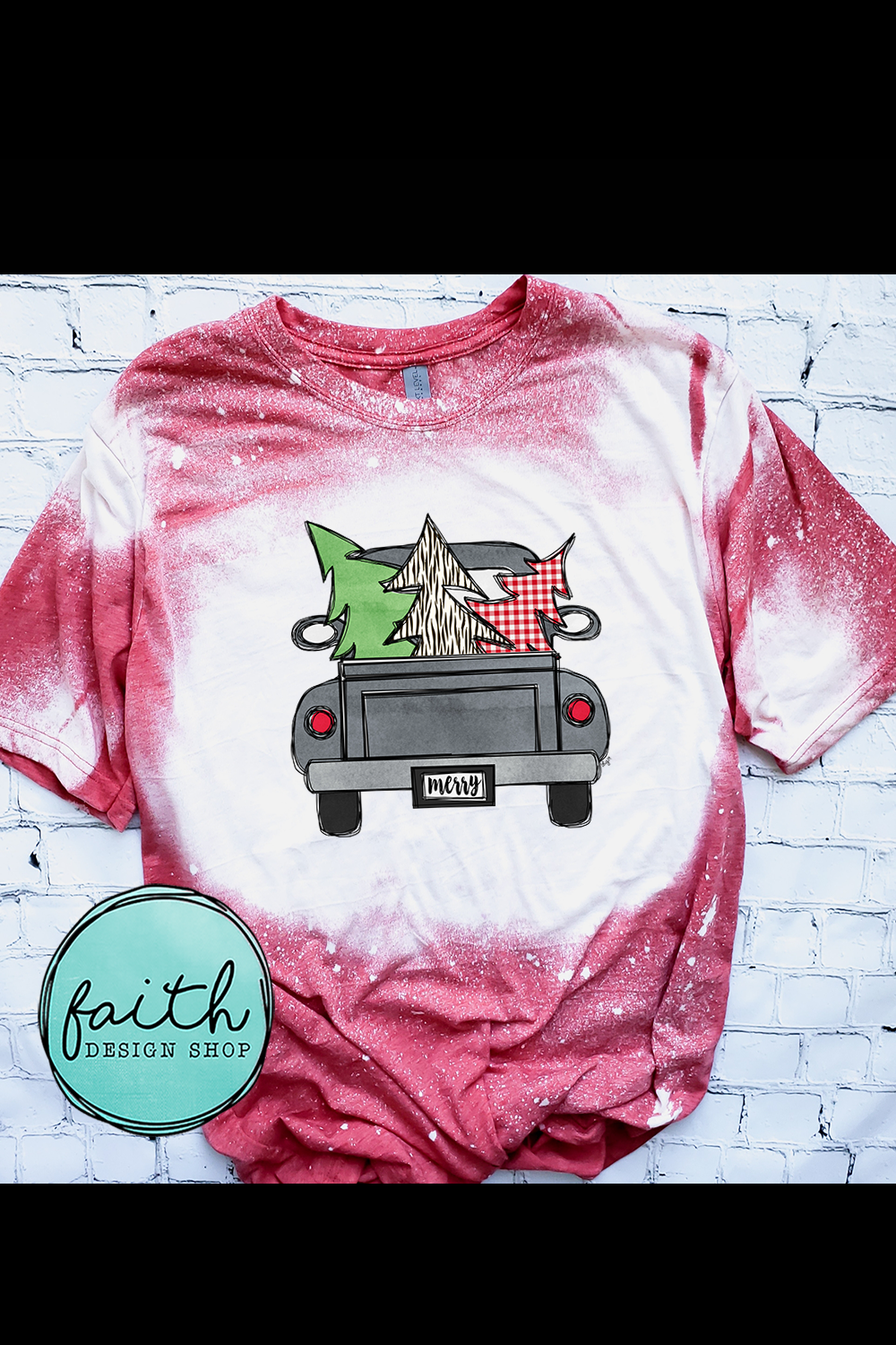 Merry Christmas Truck with 3 Trees example image 2