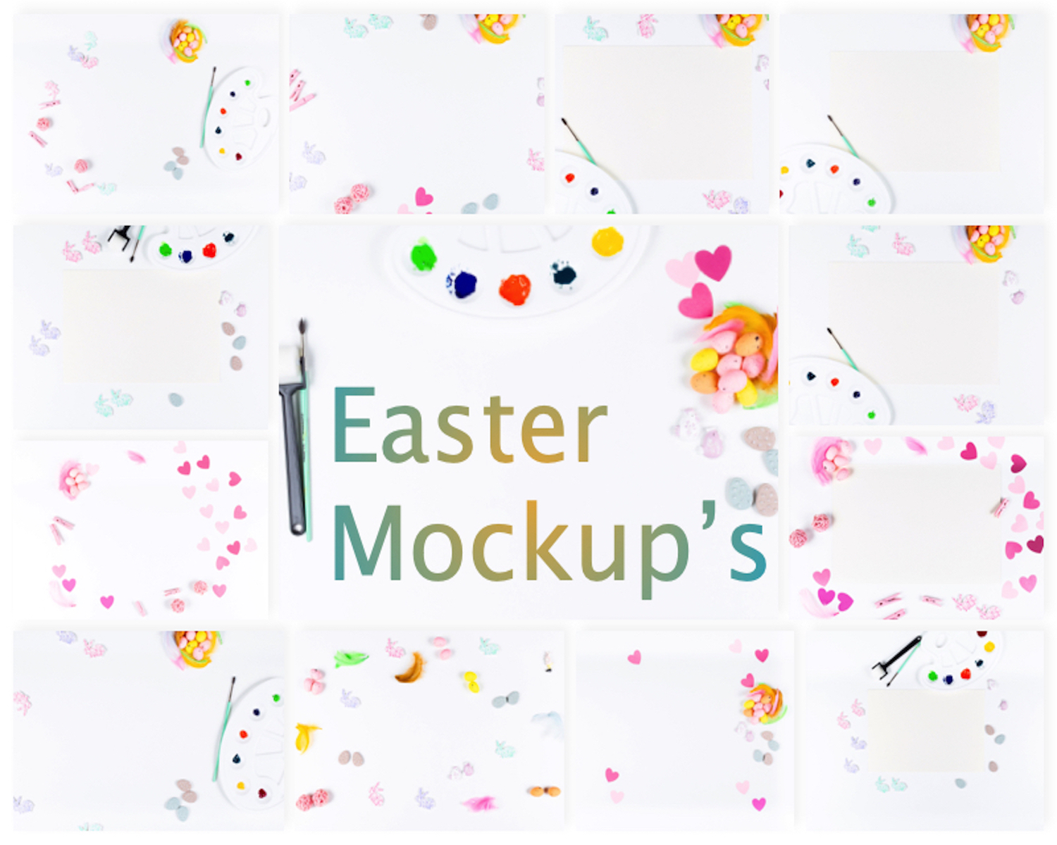 Set of 13 Easter Mockup's example image 14