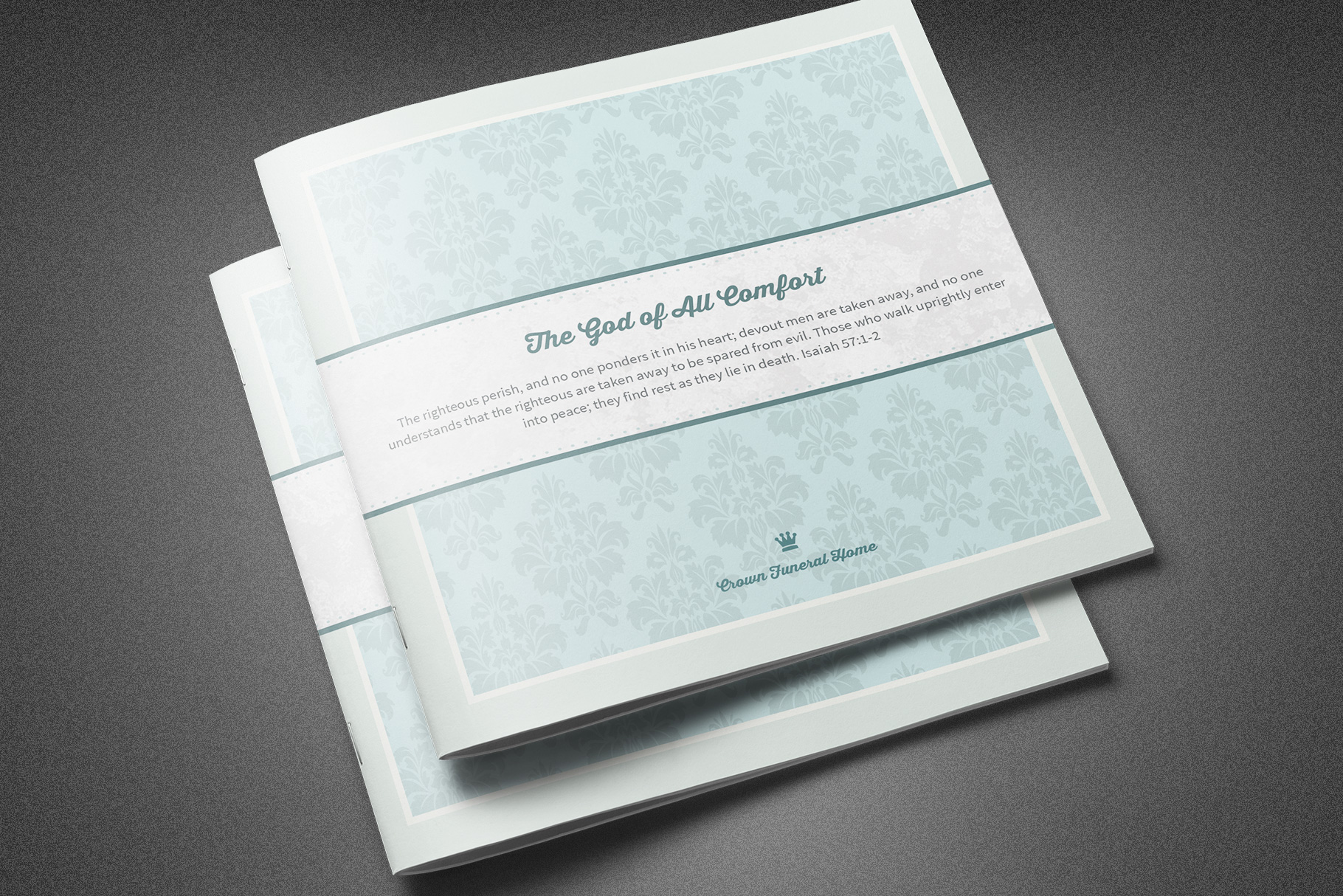 All Comfort Funeral Program Template example image 2