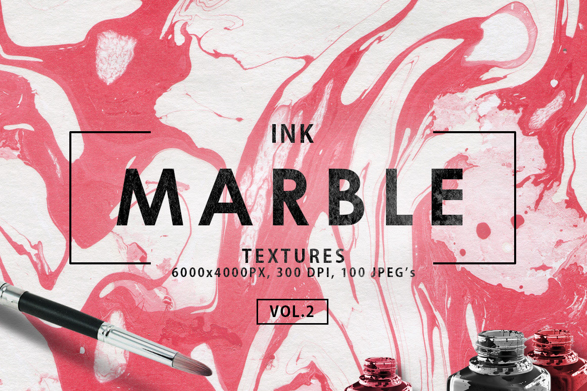 100 Marble Ink Paper Textures Vol.2 example image 1