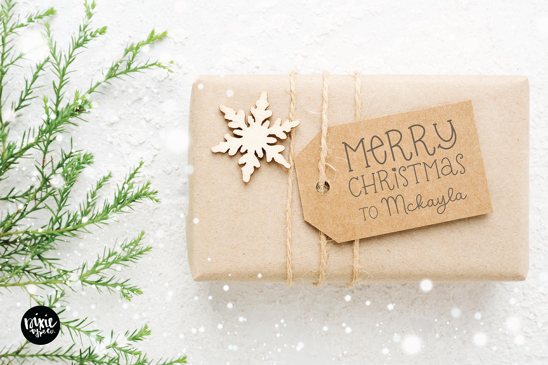 CHRISTMAS MISTLETOE a Script - Serif Christmas Font Duo example image 2