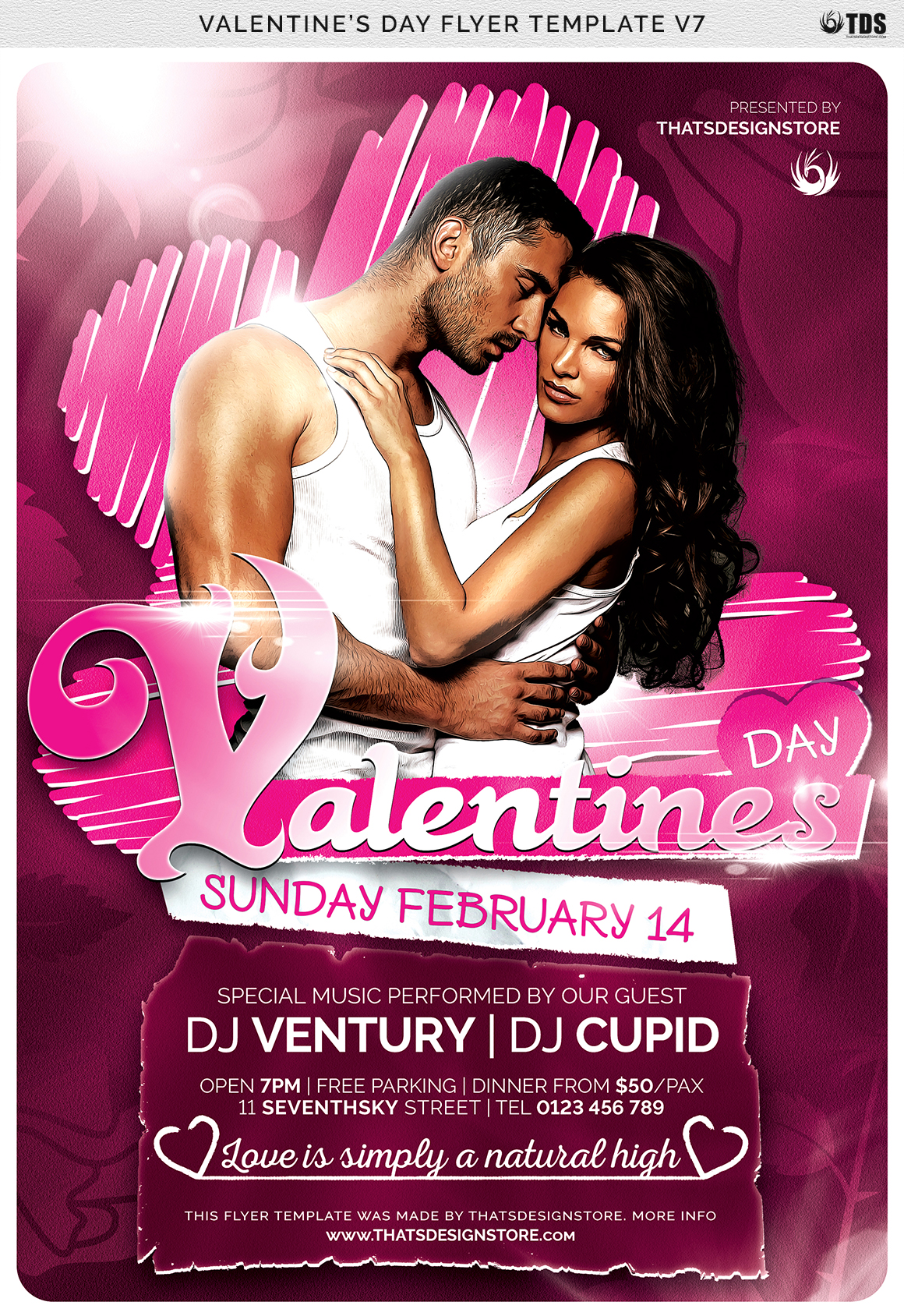 Valentines Day Flyer Template V7 example image 7