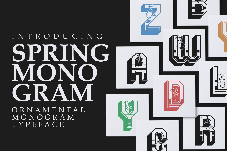 Spring Monogram example image 1