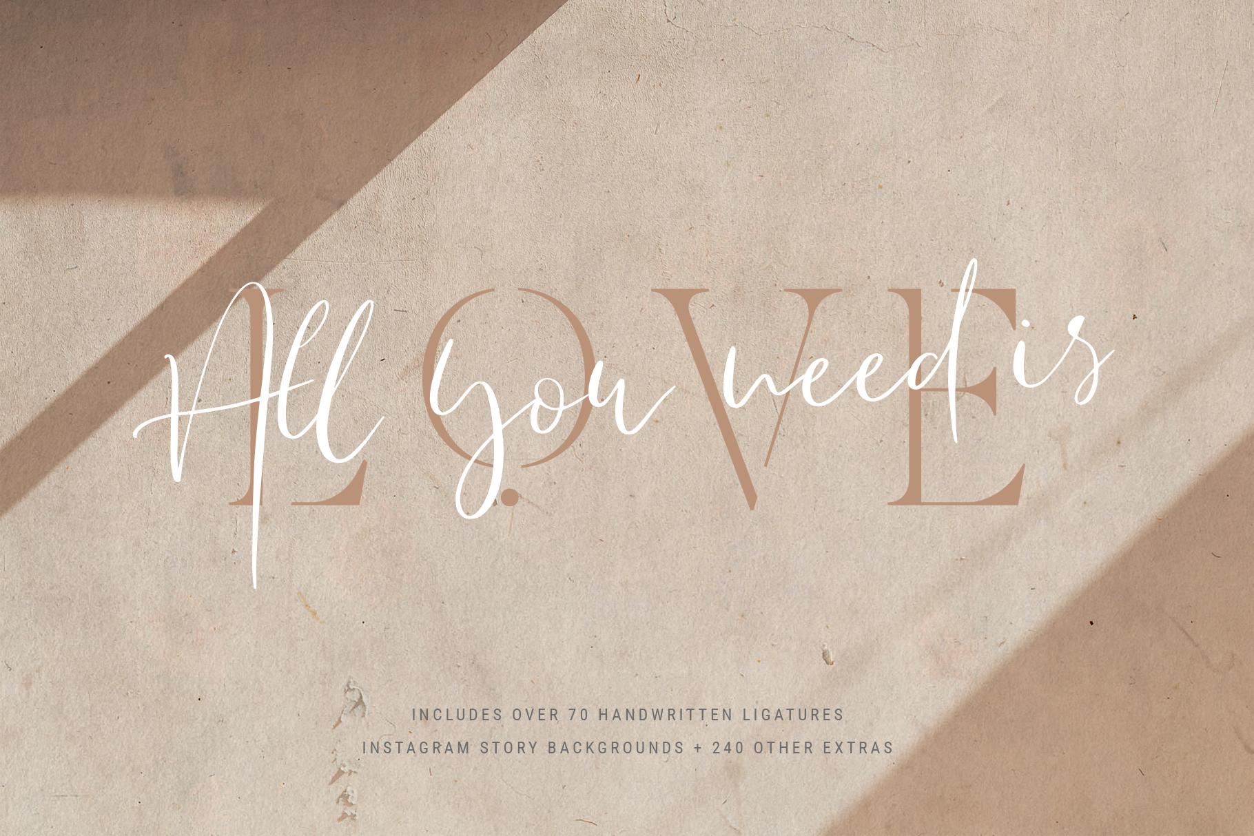 Verona Amore - Modern Serif & Script Font Duo & Extras example image 6