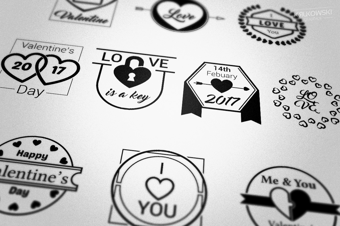 Valentine's Day Love Vector Badges Logos example image 2