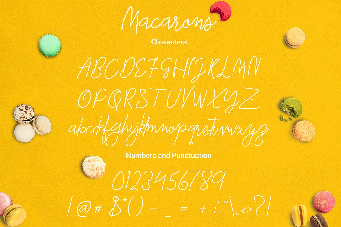 Macarons Font and Extras example image 4