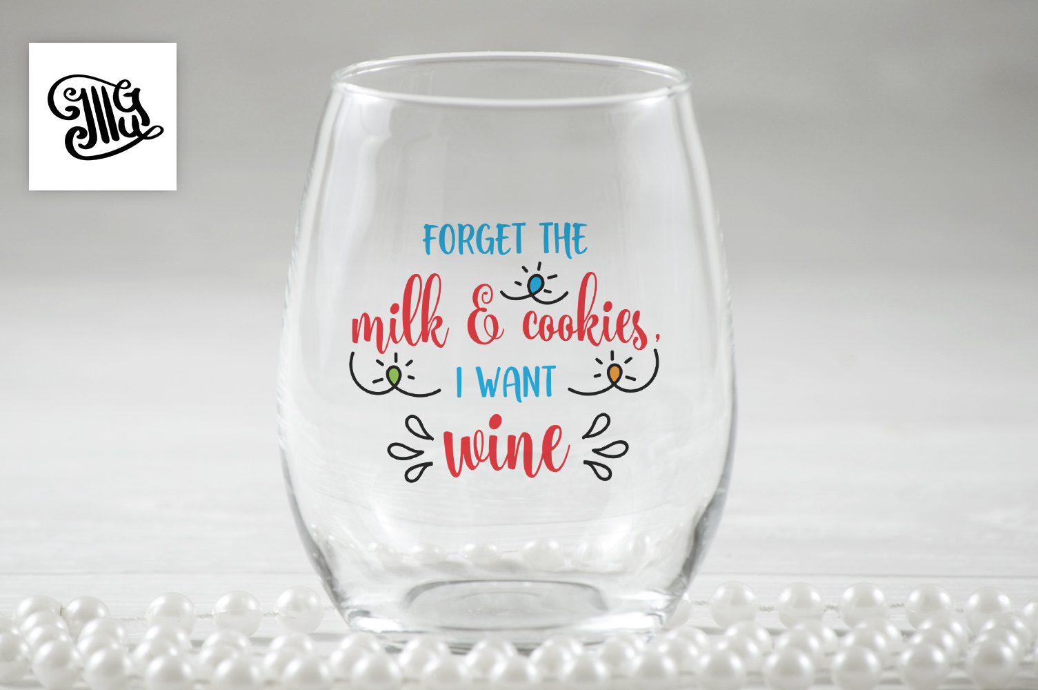Forget the milk and cookies, I want wine - Christmas wine example image 1
