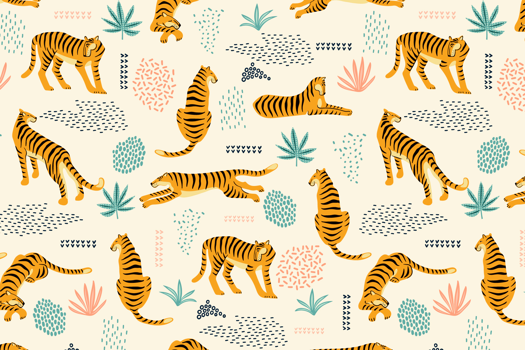 Tiger collection. Patterns & clipart example image 5