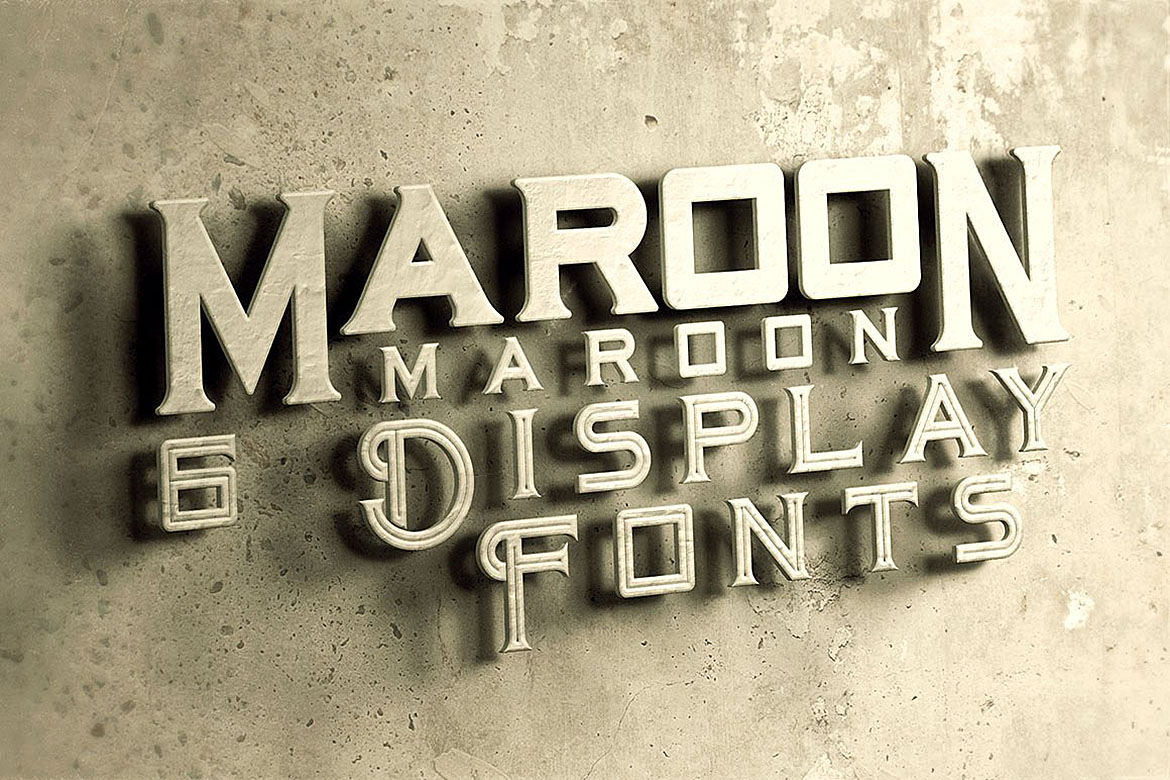 Maroon - Vintage Style Font example image 5