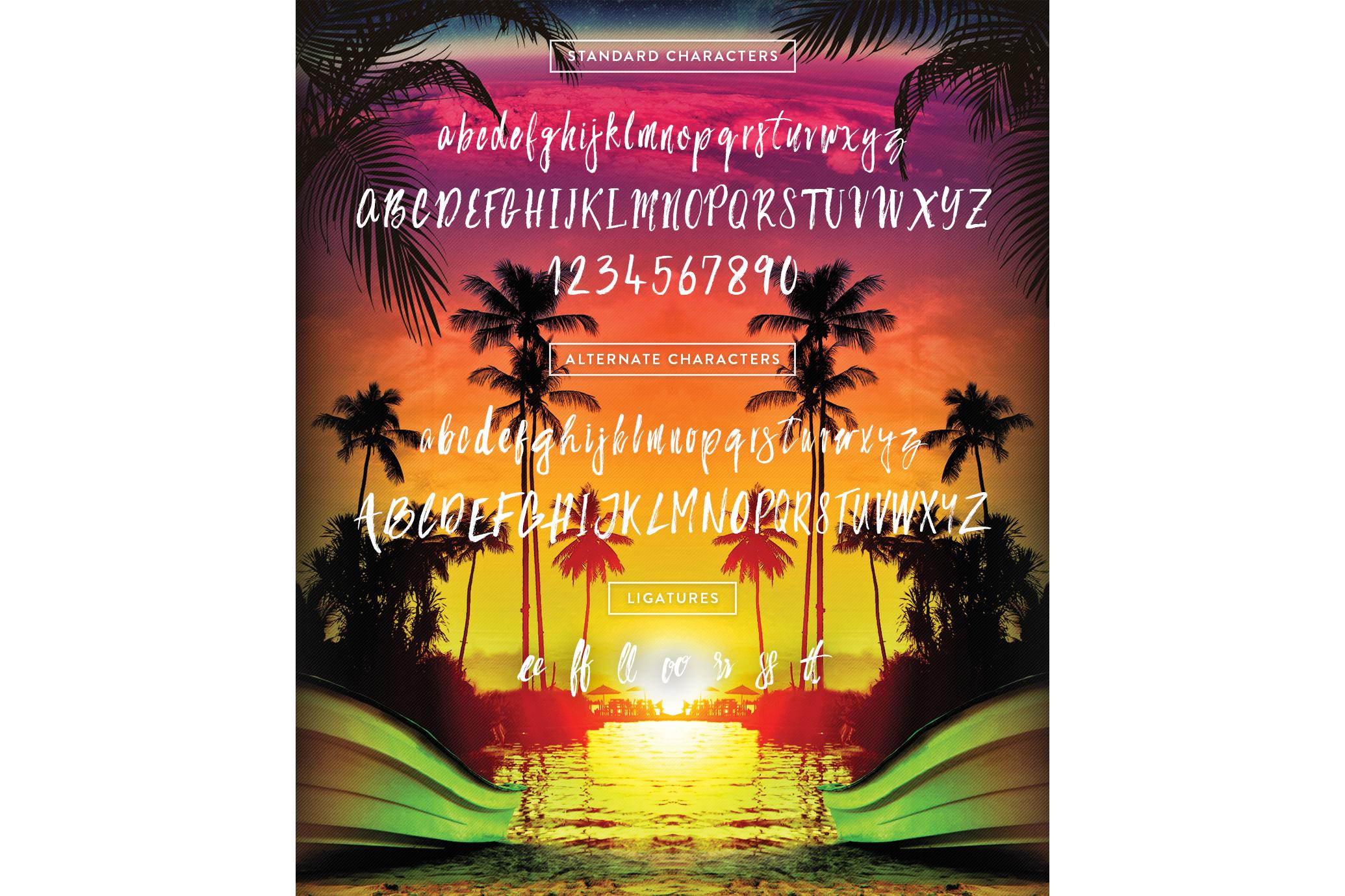 Bahamas Brush Font example image 2