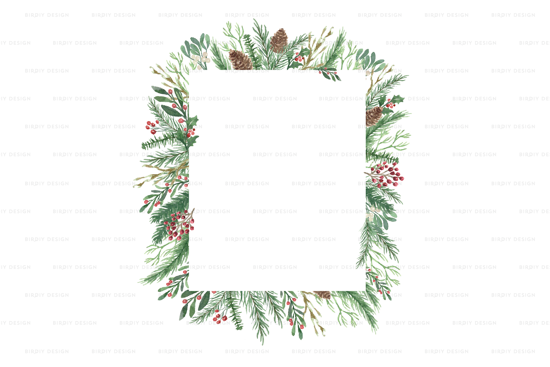 Winter Watercolor Frame Backgrounds example image 4