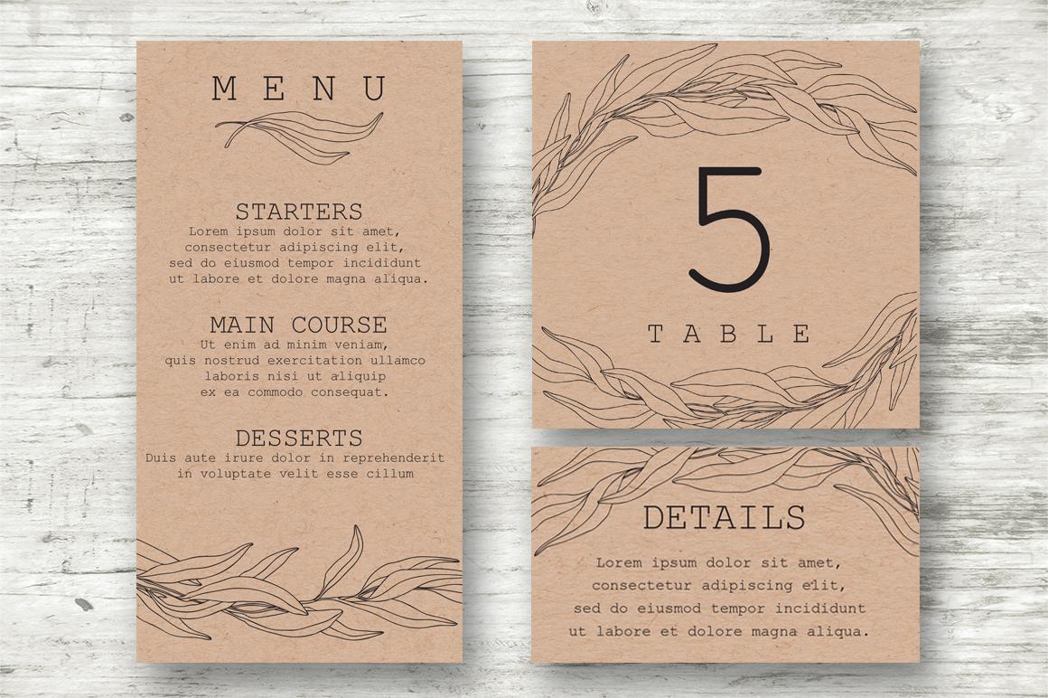 Wedding Vector Invitations Suite example image 2