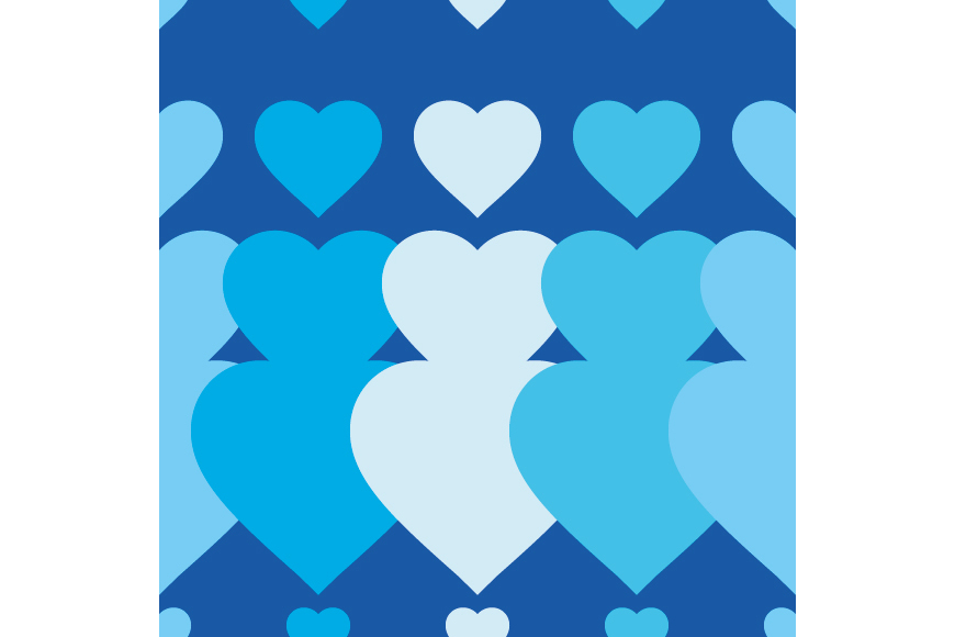 Set of 12 backgrounds with Hearts on Valentine's Day. example image 9