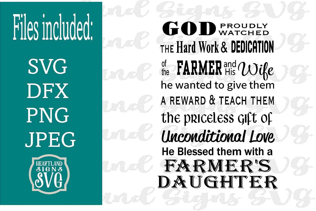 God Made A Farmer Daughter SVG example image 1