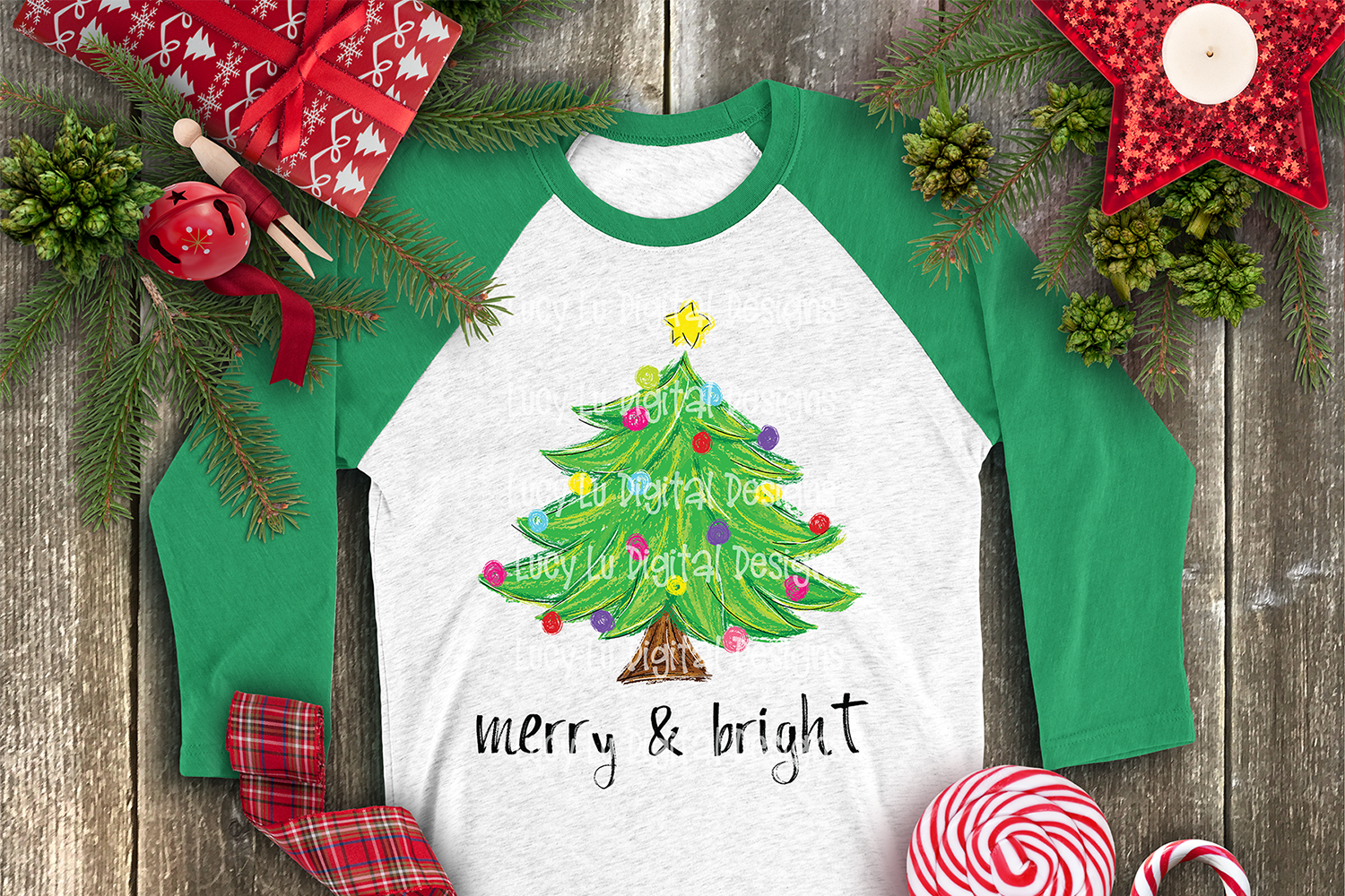 CHRISTMAS - Painted Merry & Bright Tree example image 3