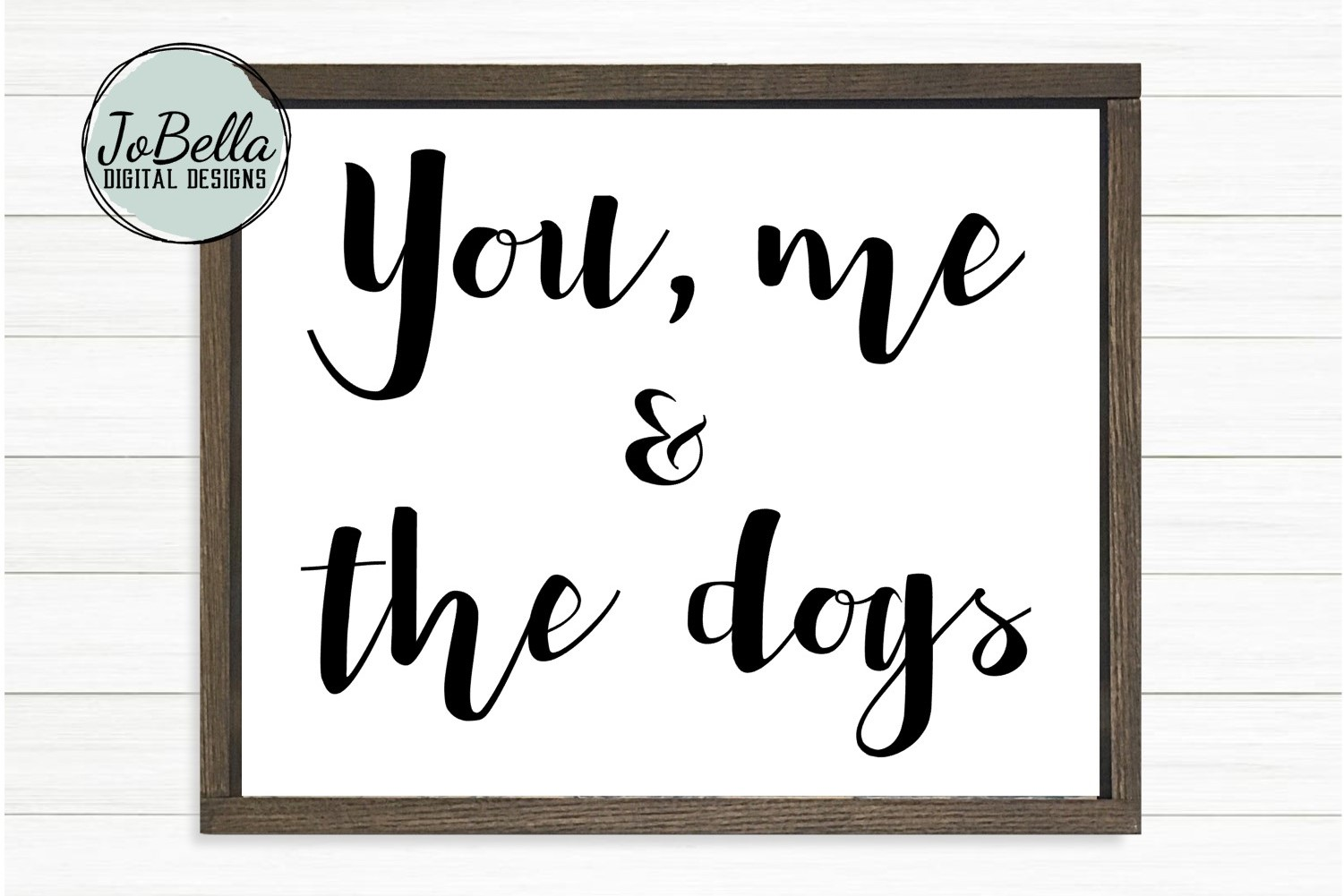You, Me And The Dogs SVG and Printable Dog Lover Design example image 1