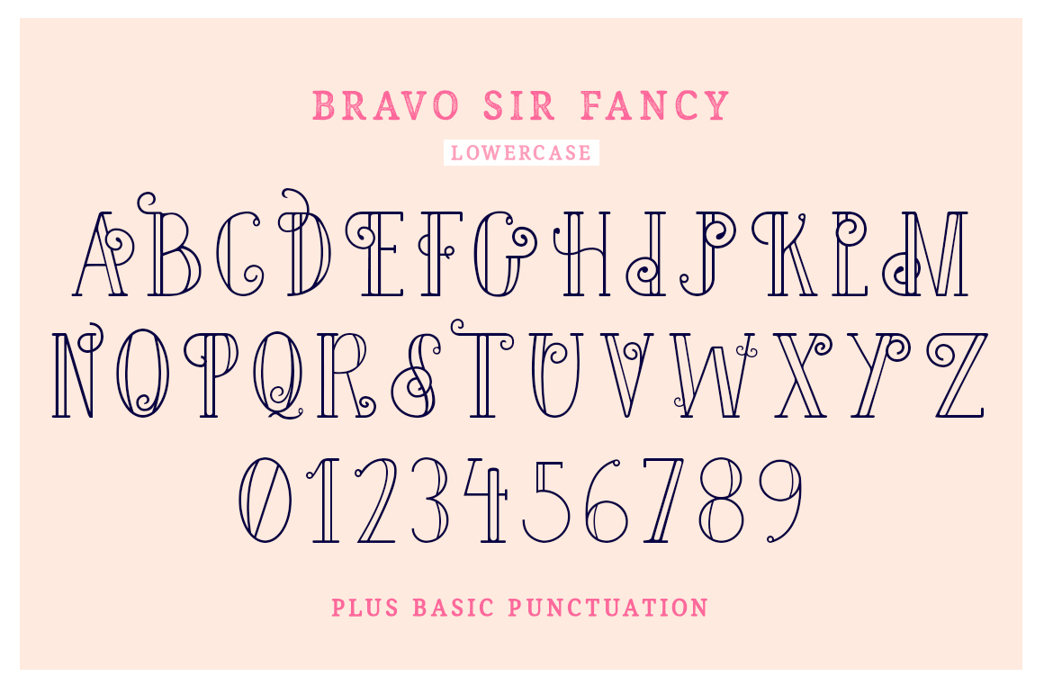 Bravo Sir Font Family example image 6