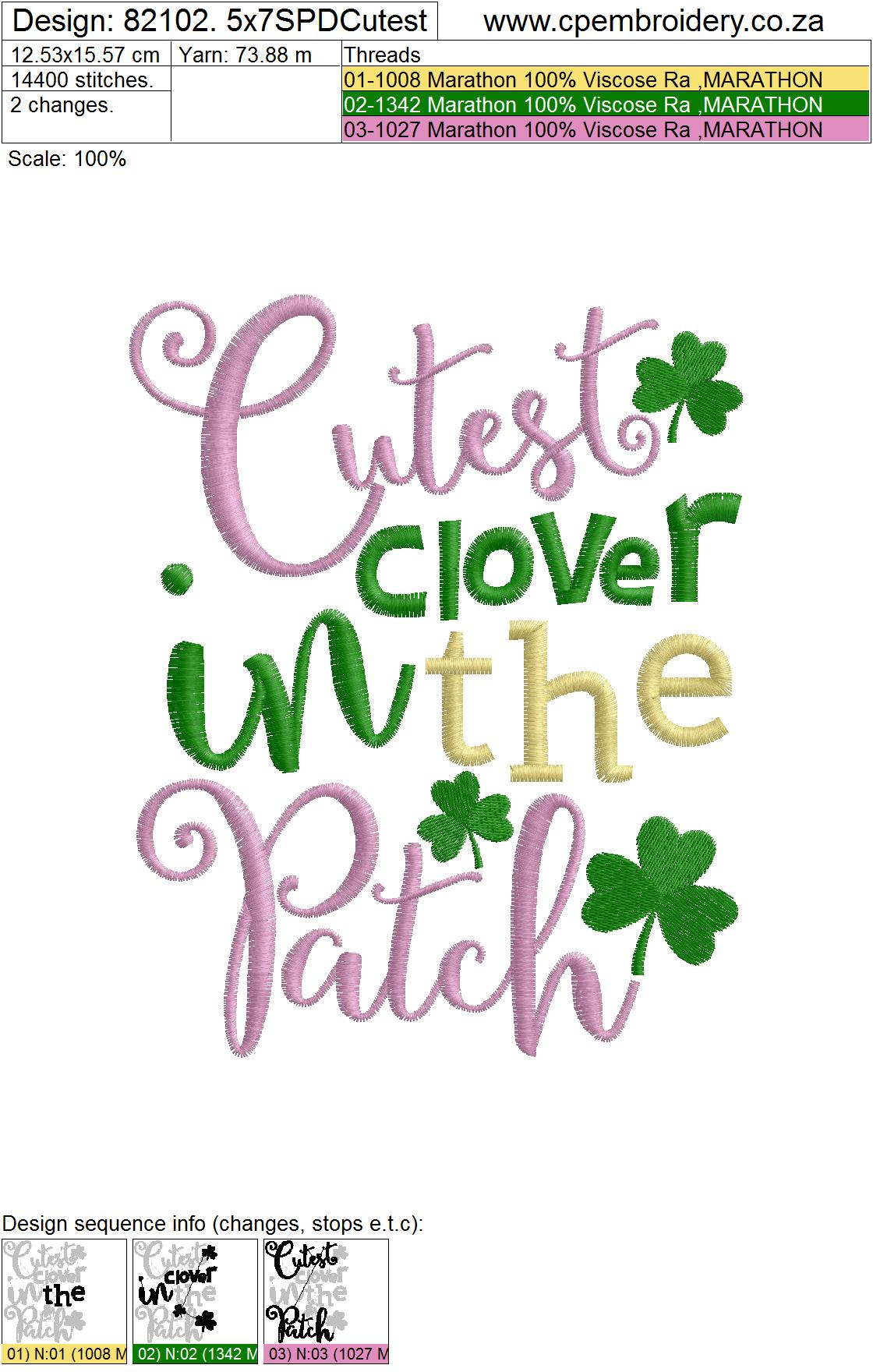 Cutest Clover in the Patch St Patrick's Day Design example image 7