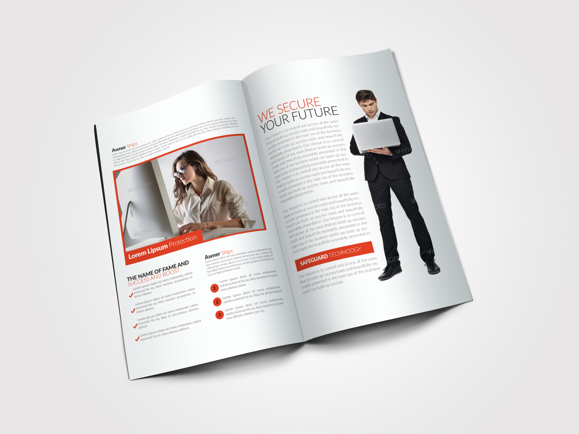 Business Bifold Brochure Templates example image 4