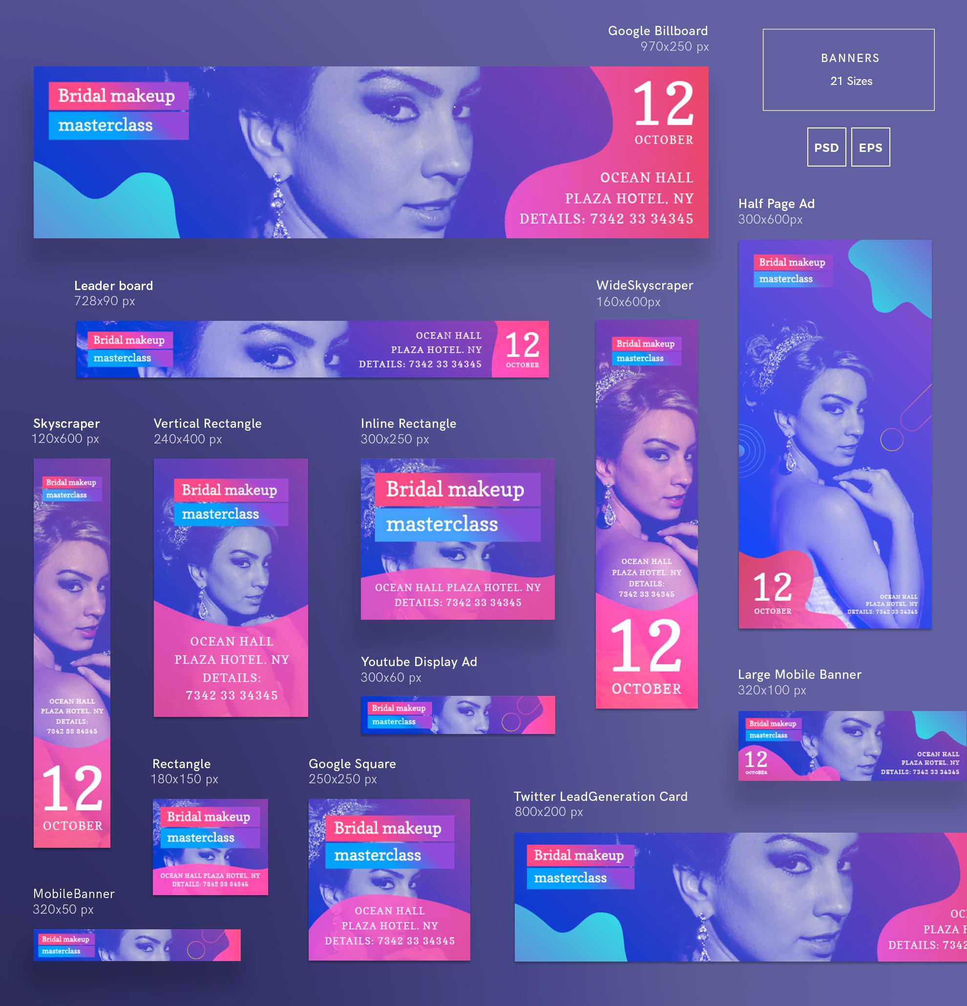 Bridal Makeup Masterclass Workout Design Templates Bundle example image 11