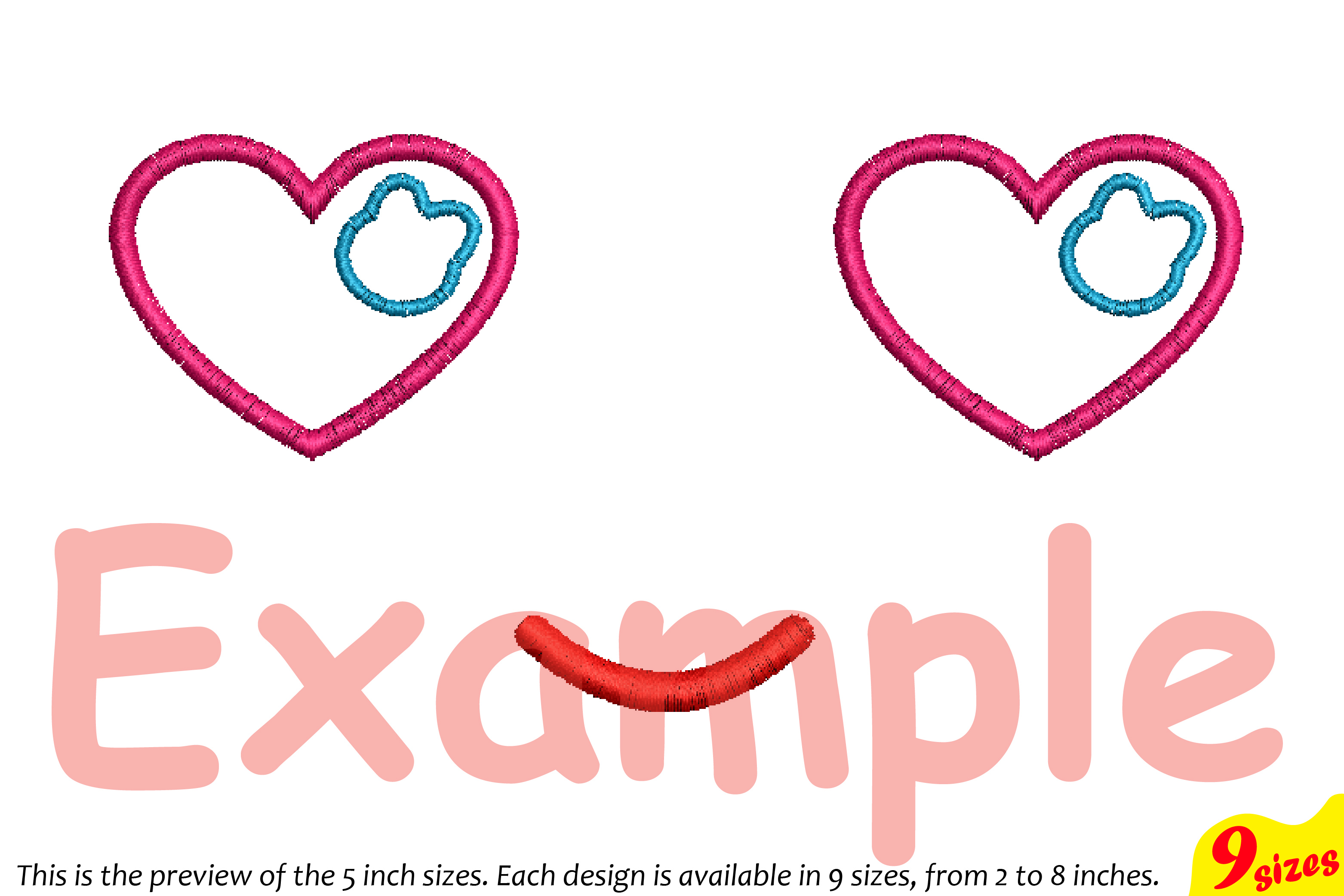 Cute Emoji Embroidery Design Machine Instant Download Commercial Use digital file icon symbol sign emoticons outline Kawaii Expression 188b example image 4