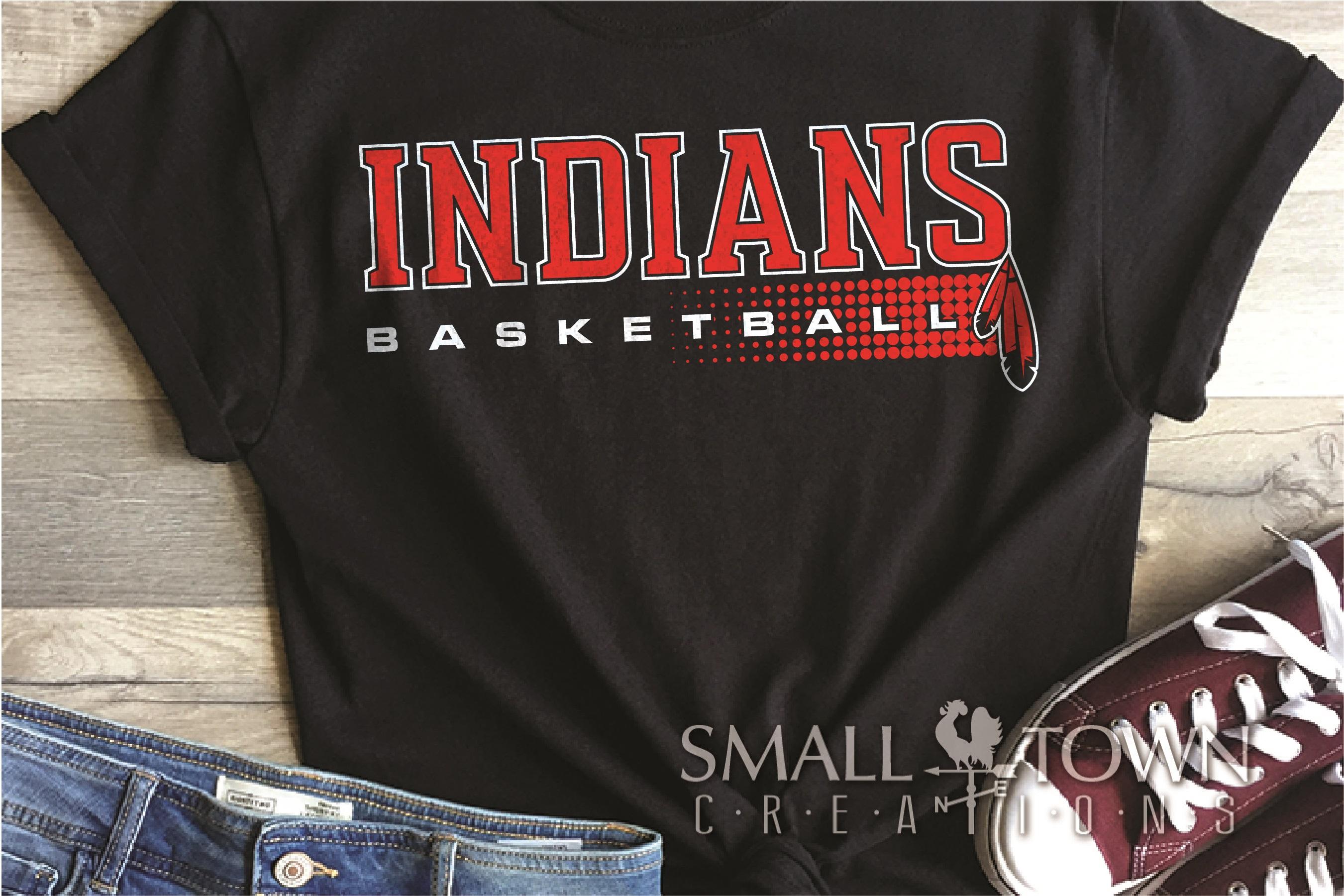 Indian, Indian basketball, Team, logo, PRINT, CUT & DESIGN example image 1