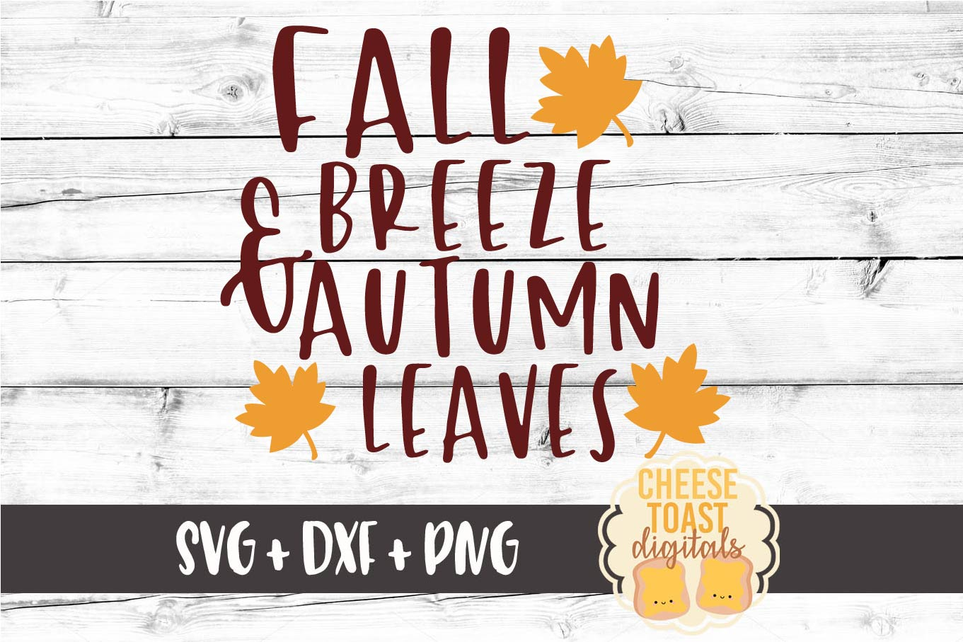 Fall Breeze and Autumn Leaves - Fall SVG File example image 2
