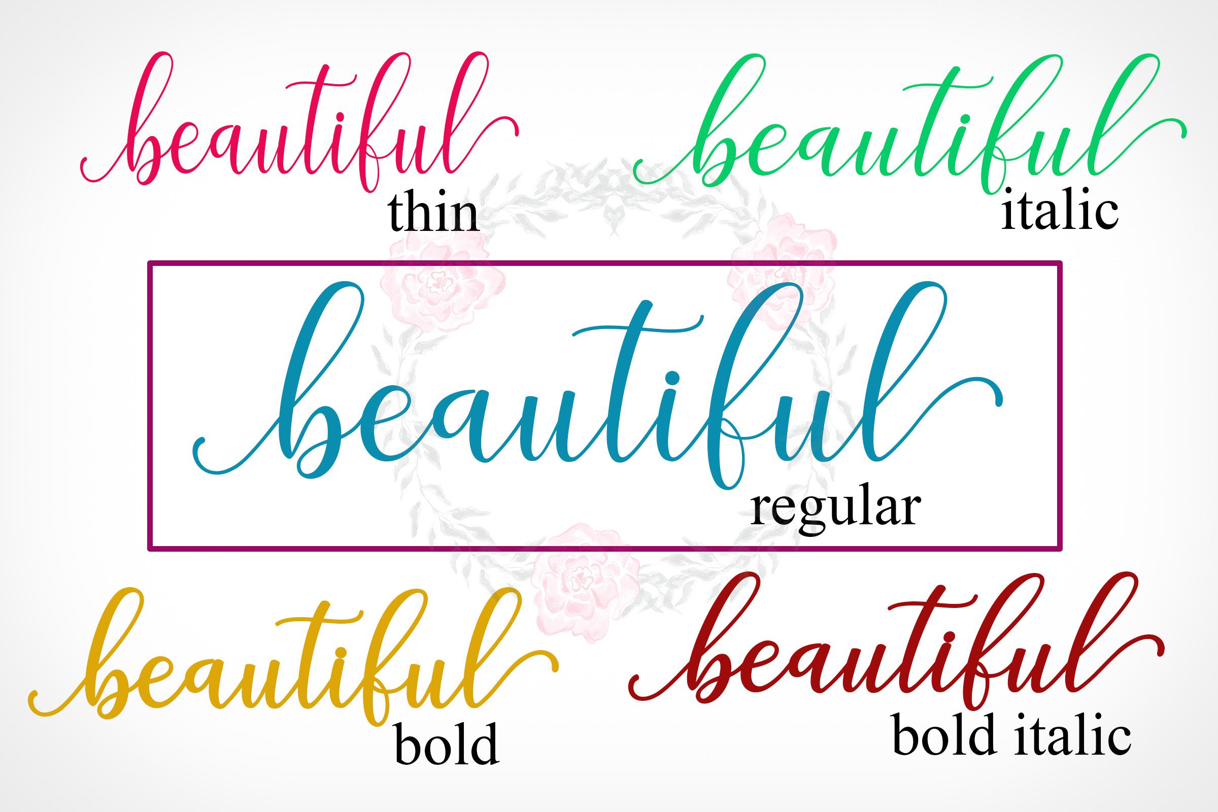 Adaline Script Font Family example image 8