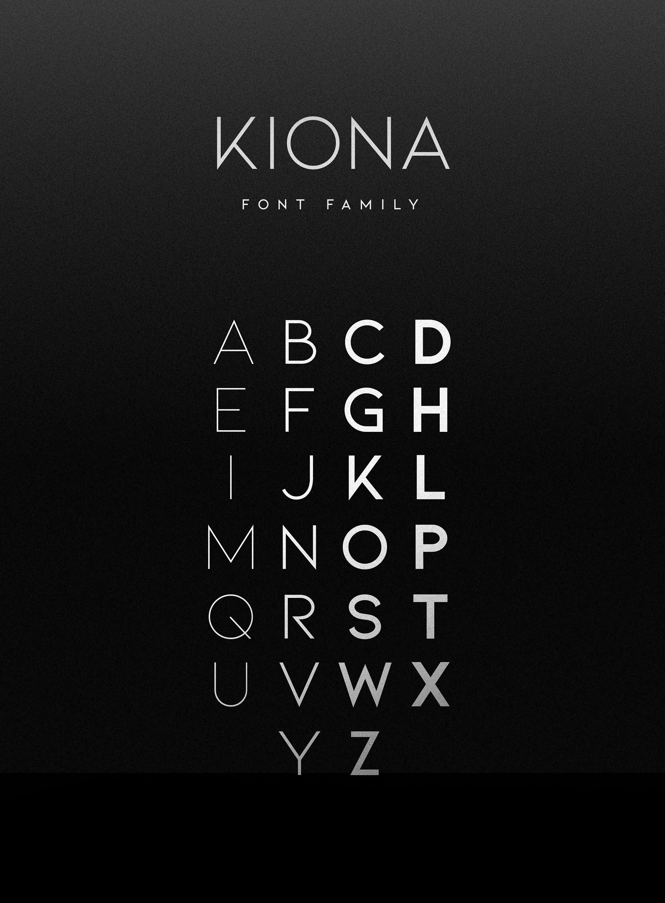 Kiona - A modern font example image 13