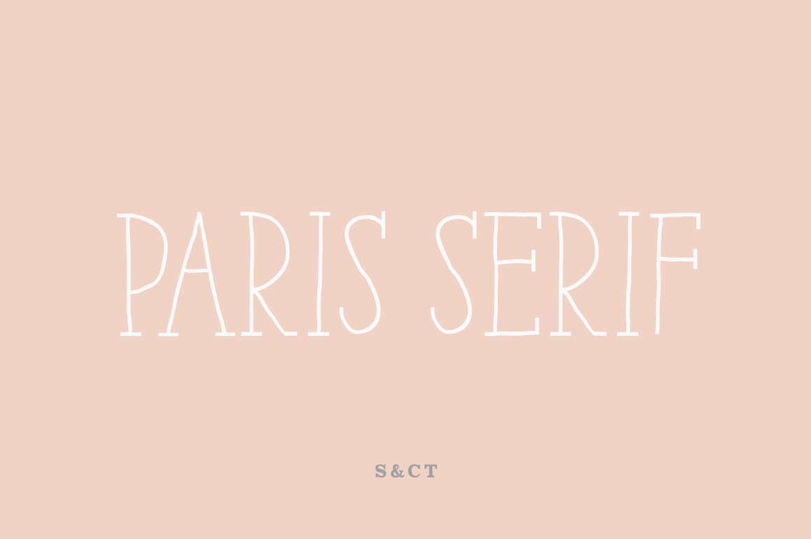 Paris Serif Family example image 1