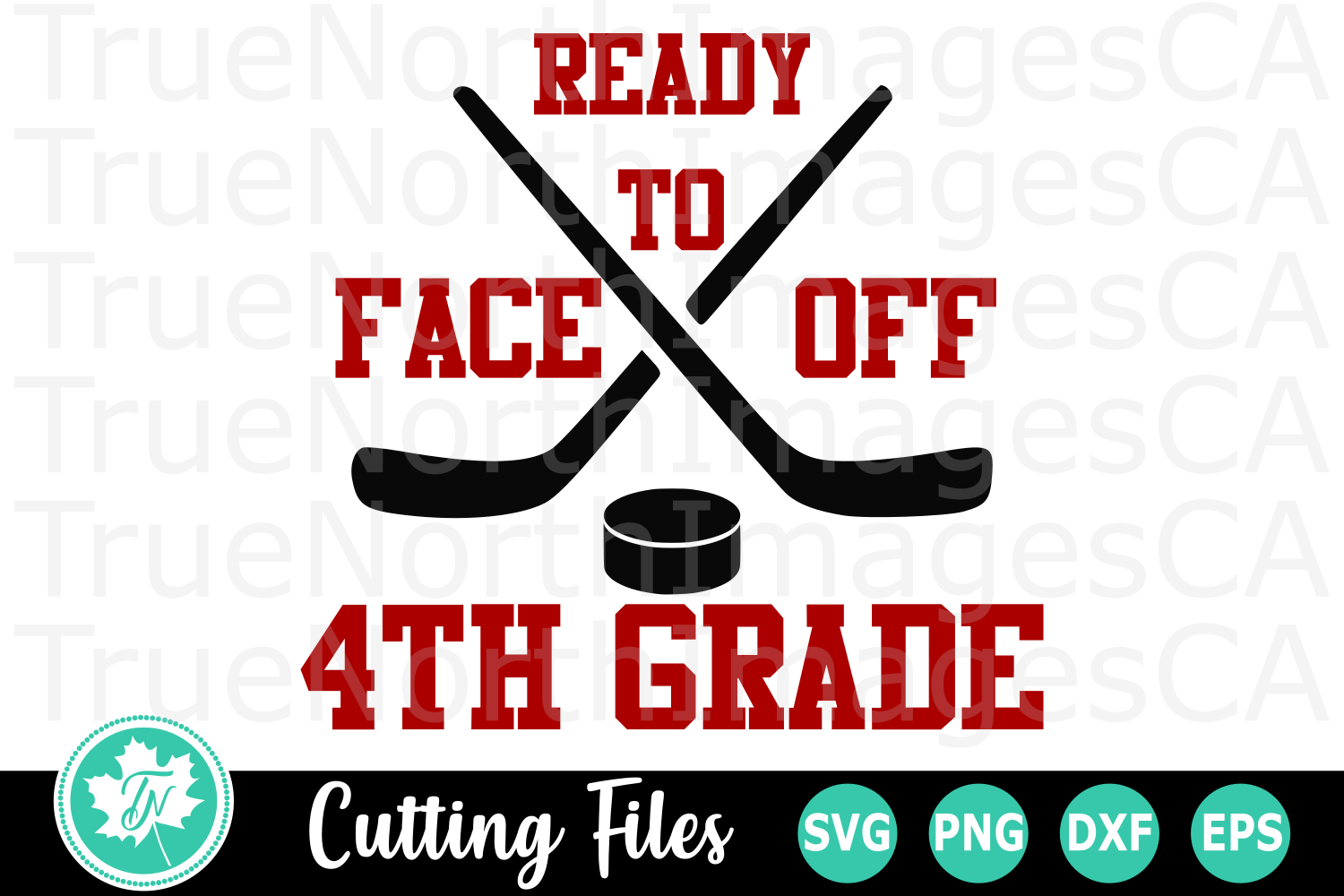Ready to Face off 4th Grade - A School SVG Cut File example image 1