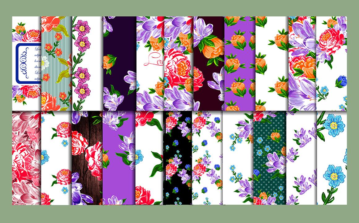 Textile flowers set. example image 5