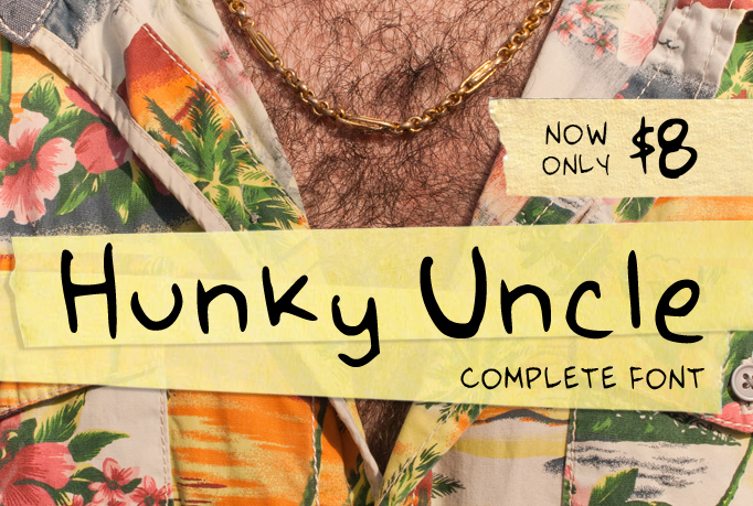 Hunky Uncle Handwritten Script Font example image 1