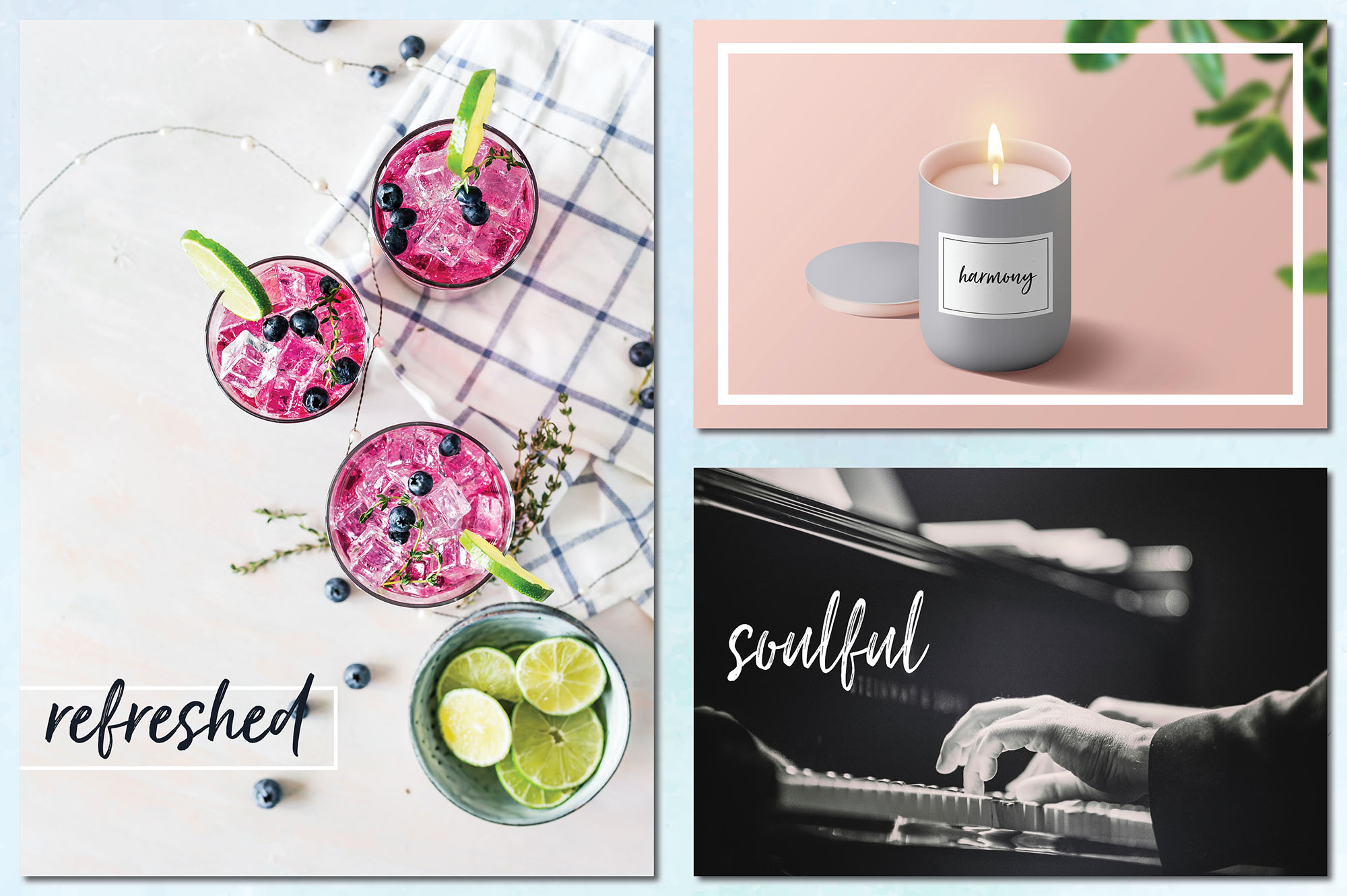 Social Media Overlays Bundle - 712 Black and White Words example image 16