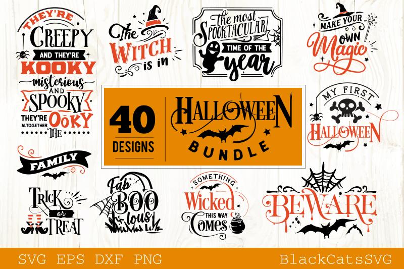 Halloween SVG bundle 40 designs vol 2 example image 2