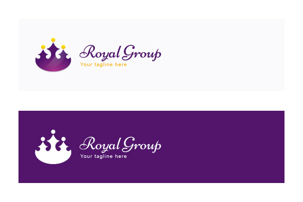 Royal Group - Abstract Crown Shape with Studs as Human Icons example image 2