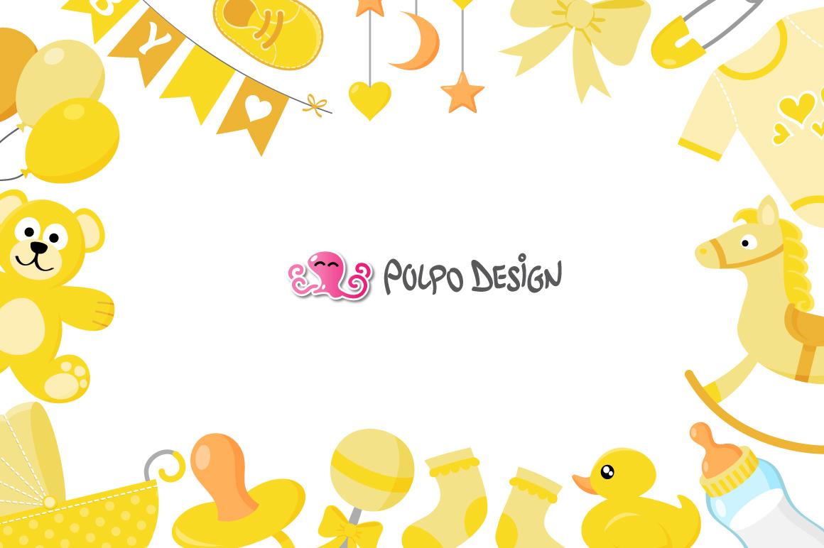 Yellow Baby Clip art example image 2
