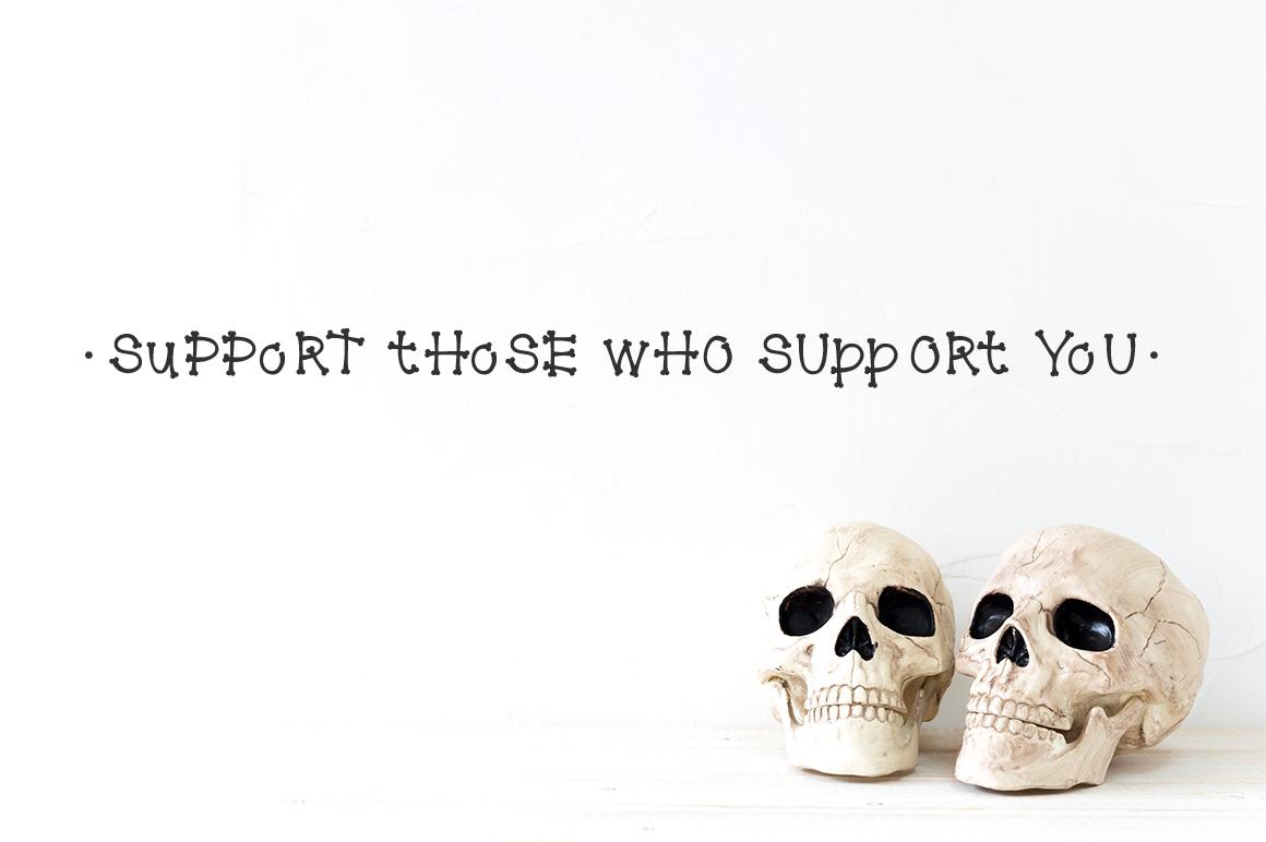 Bone Font example image 5