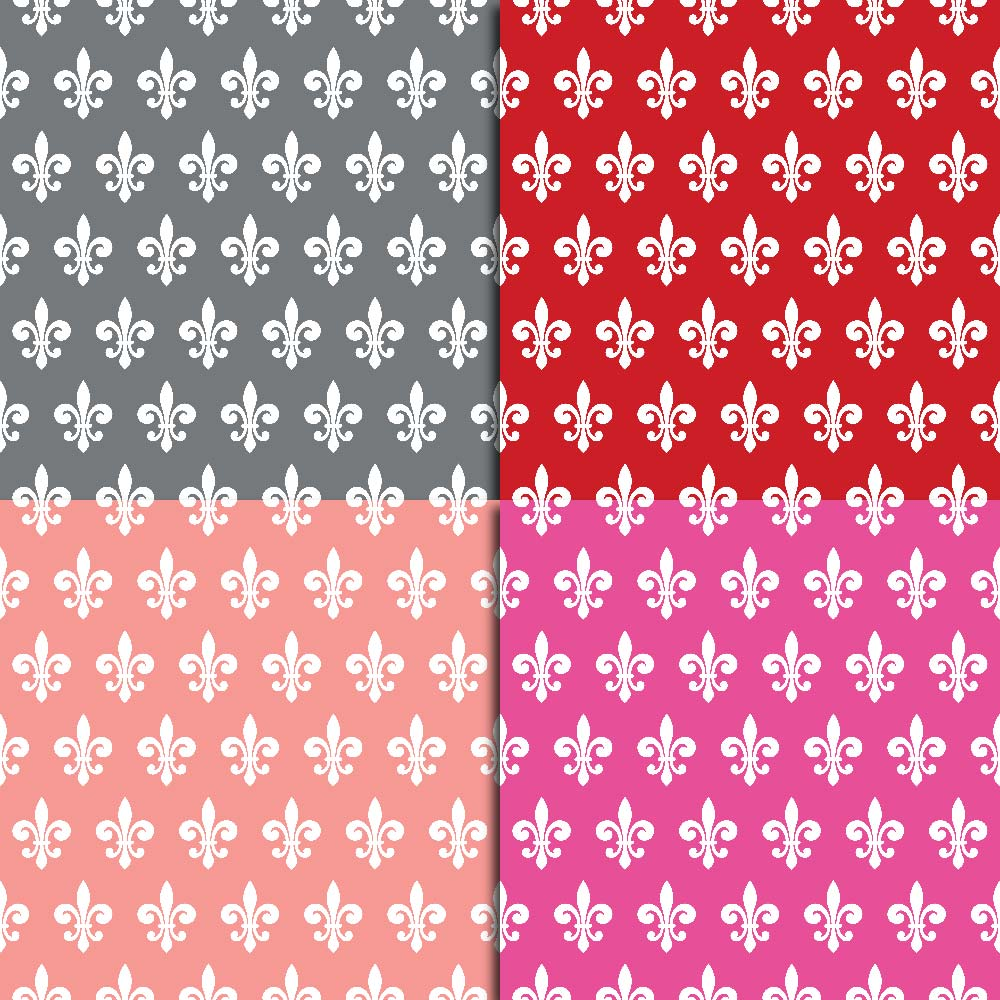 Fleur de Lis Digital Paper example image 5