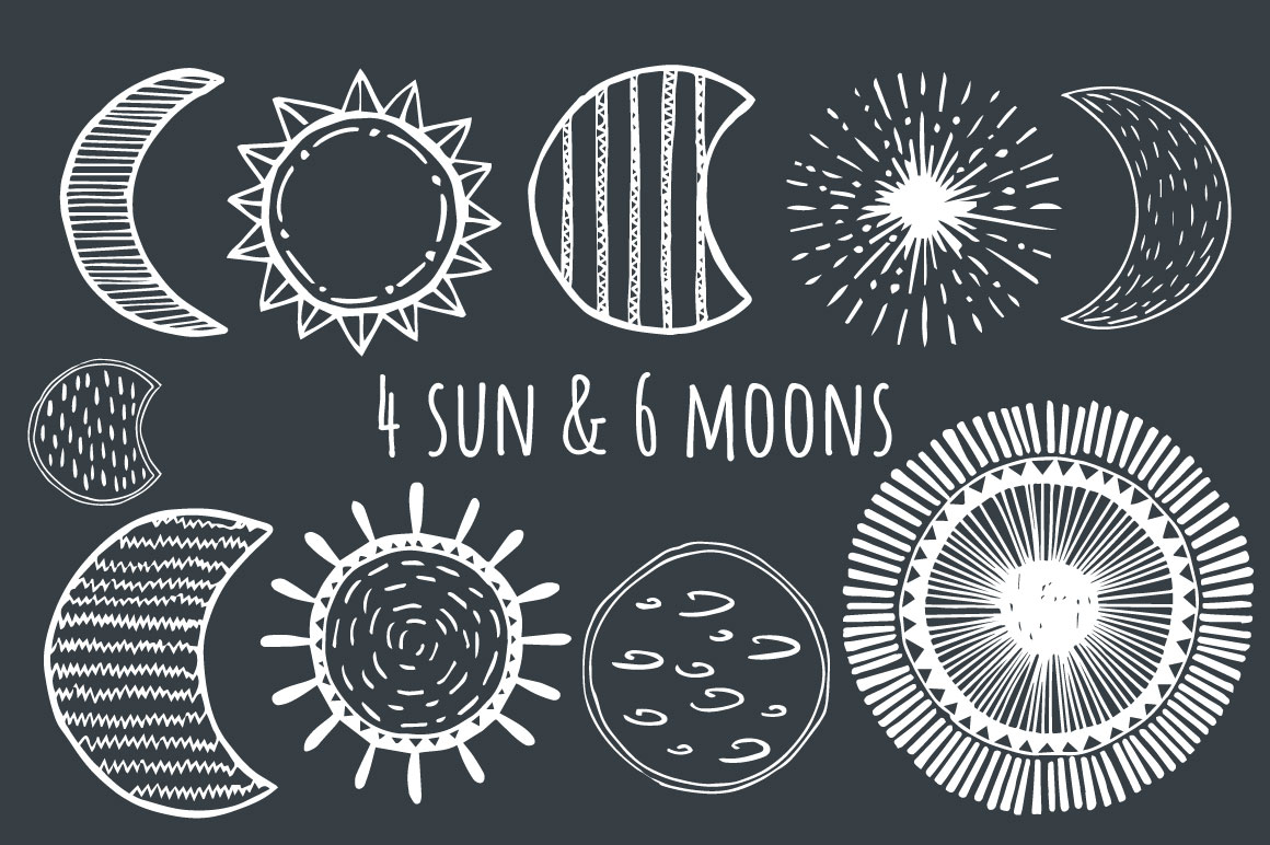 Stars, Moons, Comets - Eps&Png example image 3